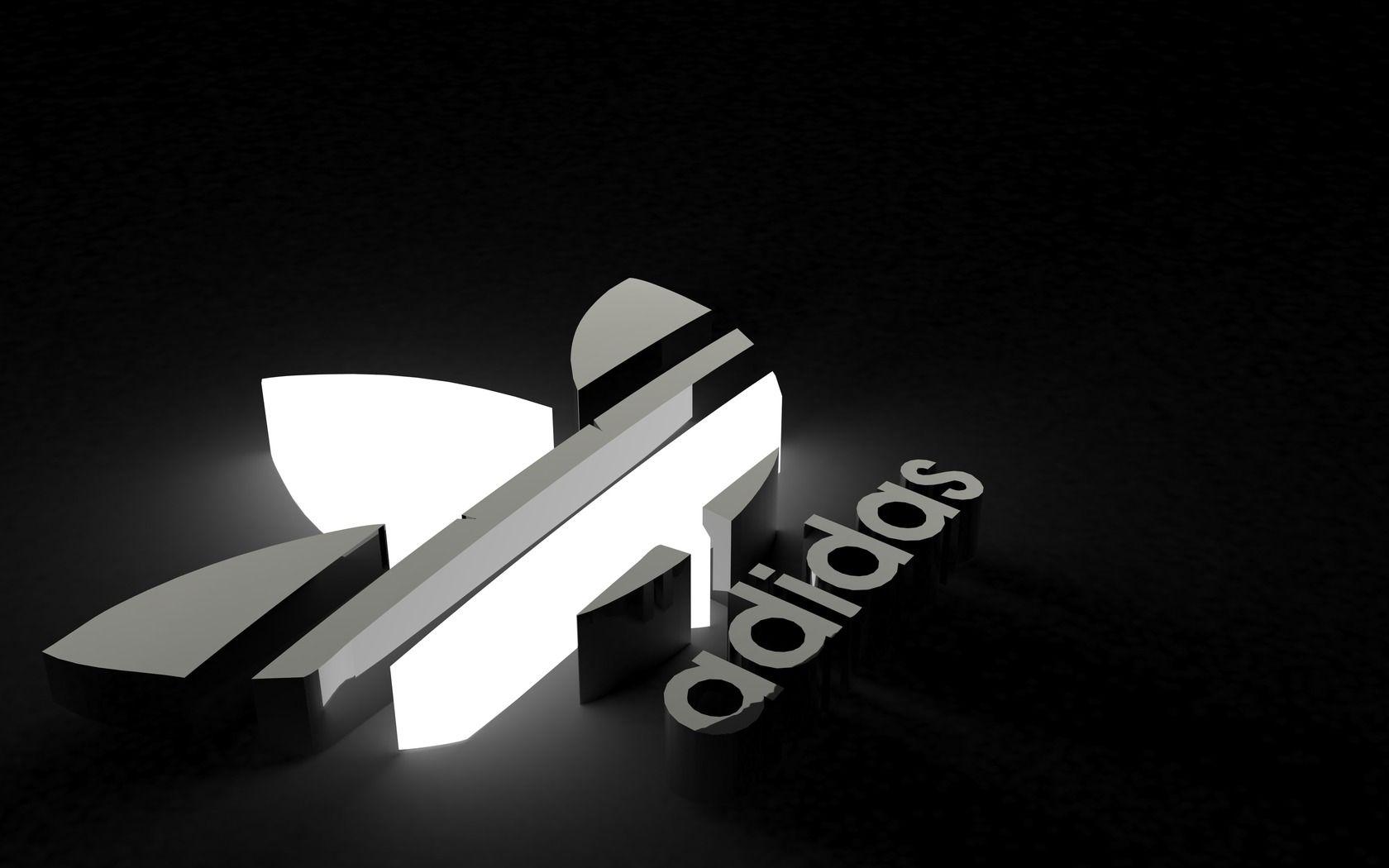 adidas logo black background, adidas iphone background