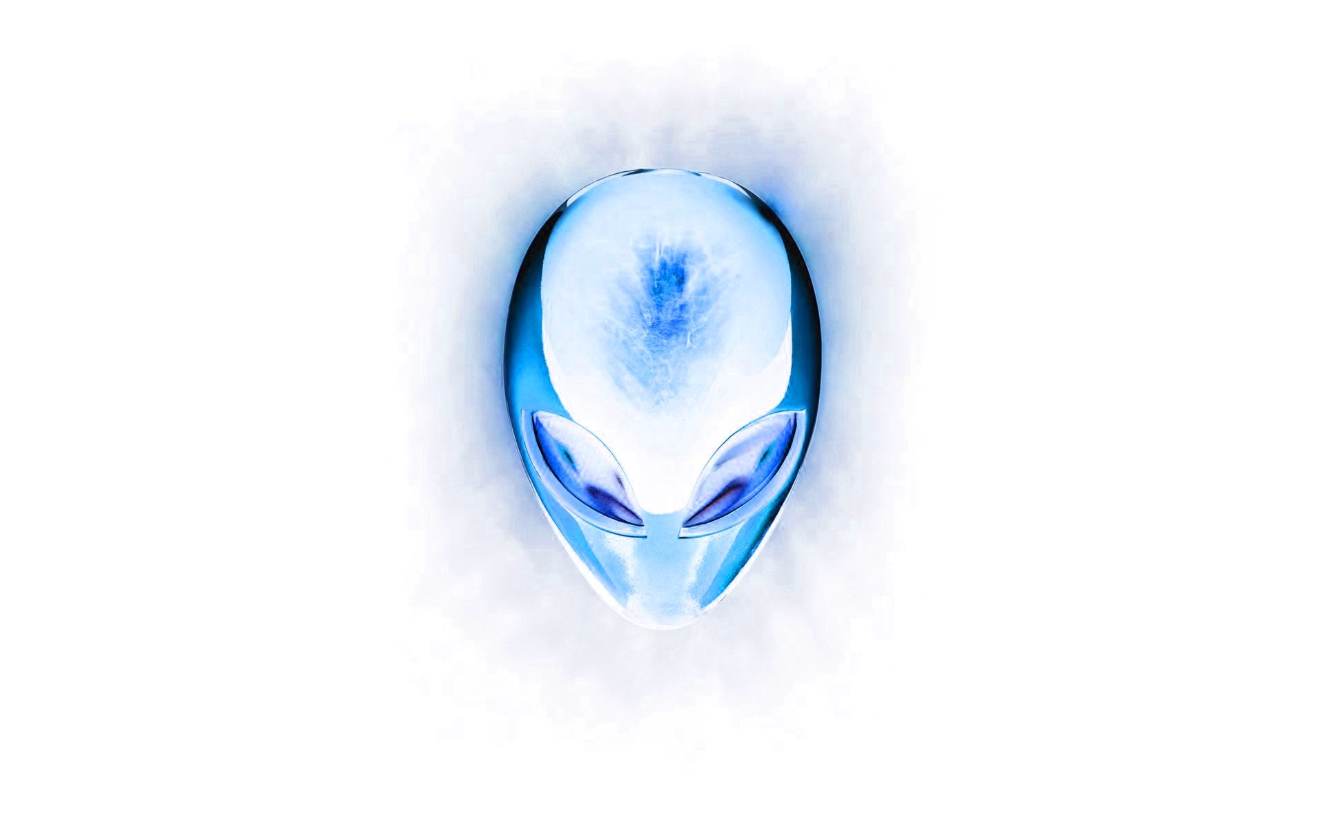 white alienware wallpaper