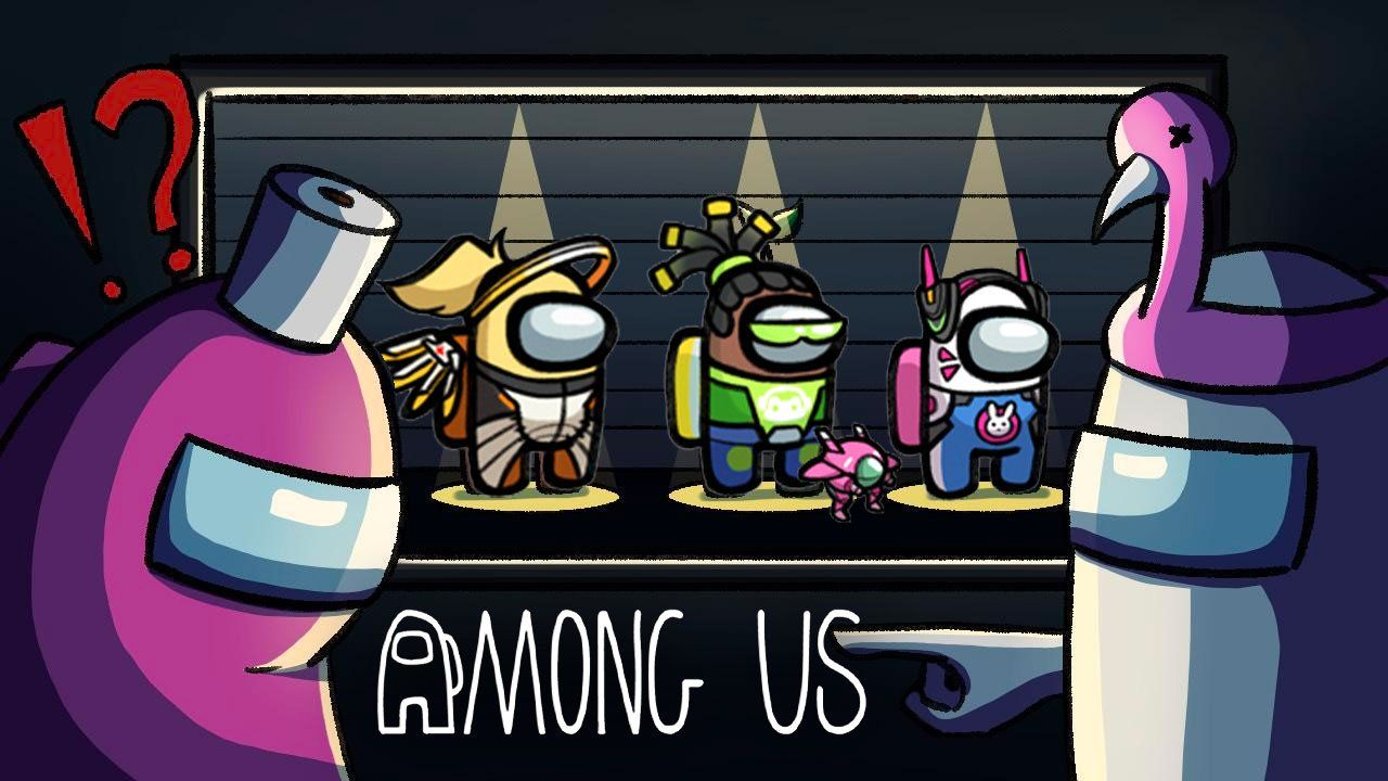 among us wallpaper blue