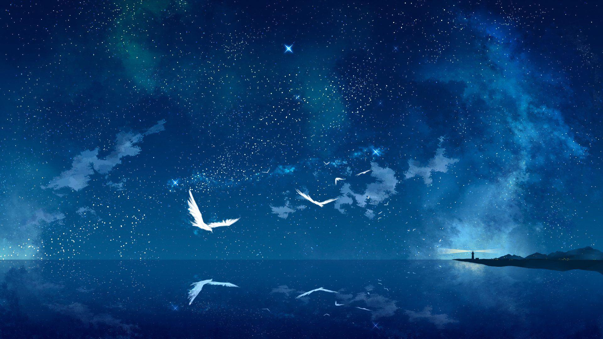 anime landscape backgrounds