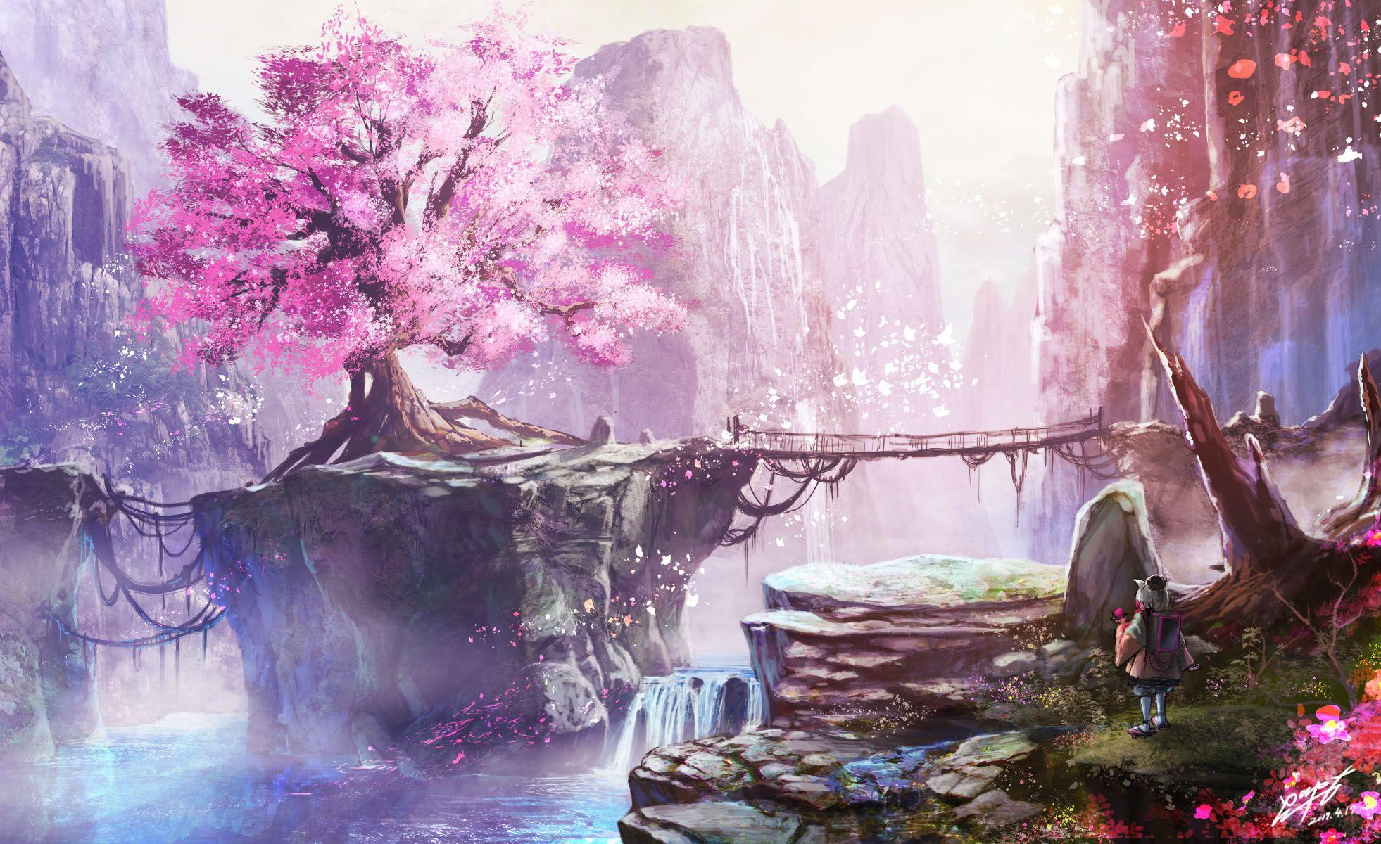 anime background scenery