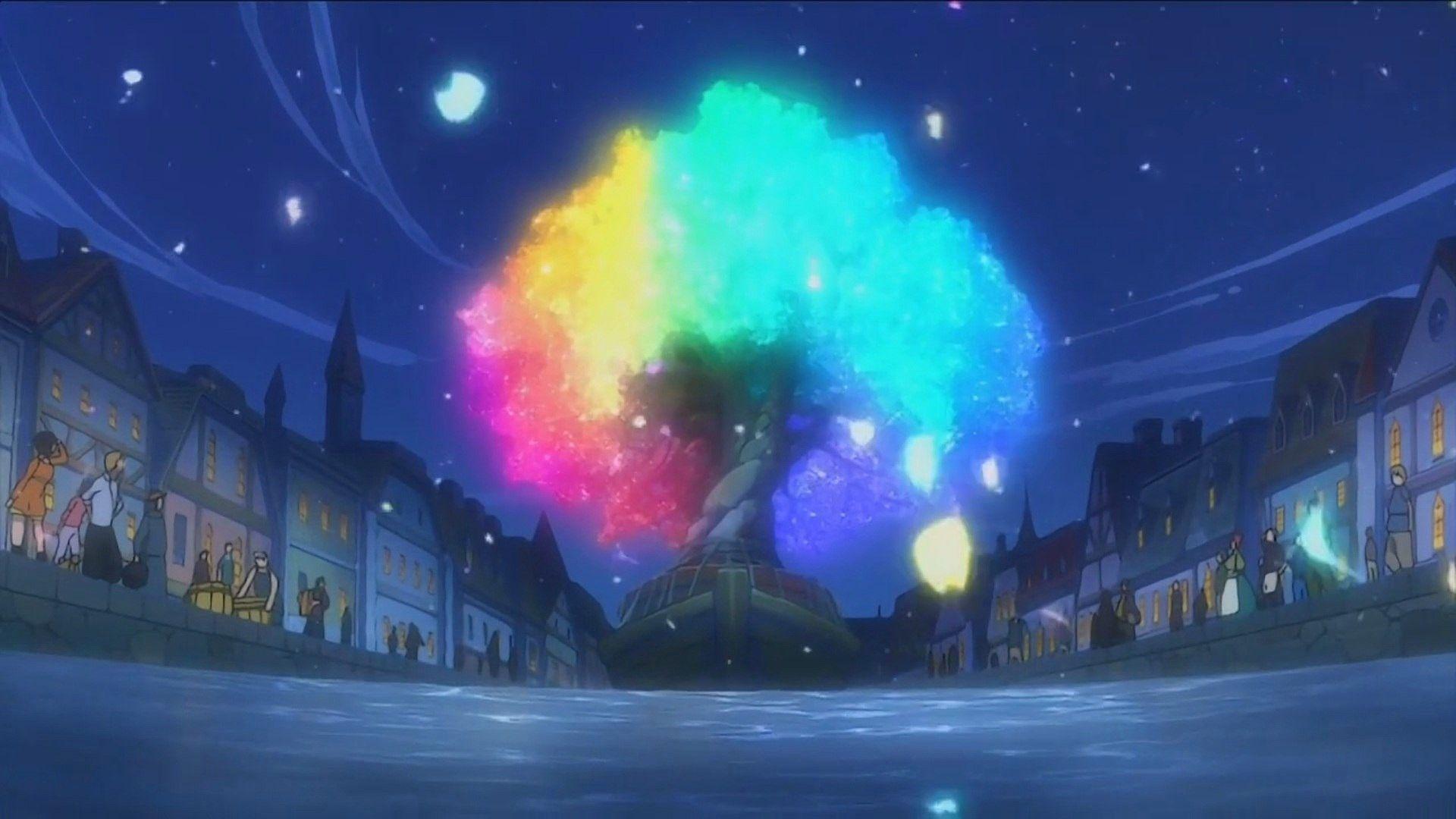 dark anime scenery