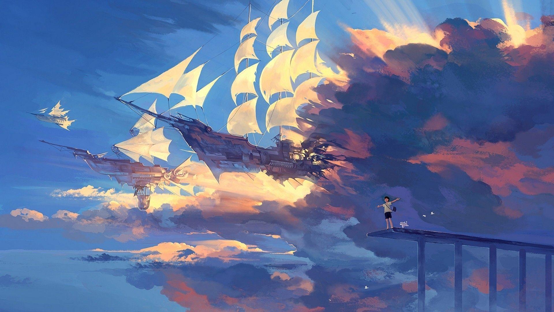 hd anime scenery wallpaper