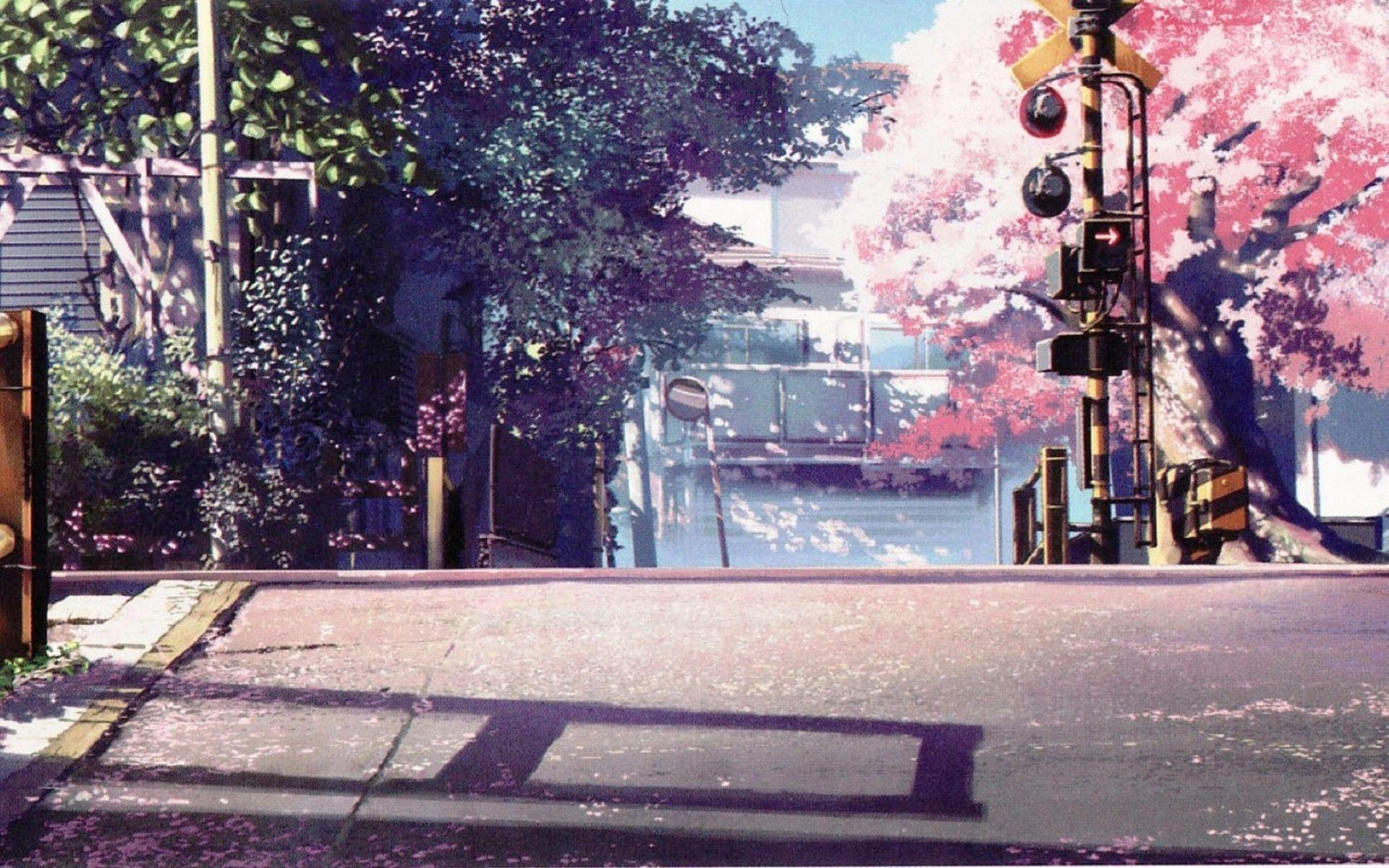 anime scenery dark