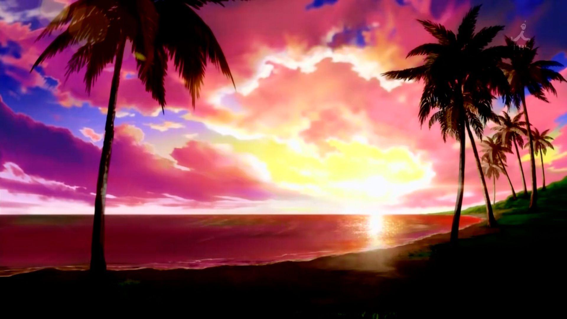 4k anime landscape wallpaper