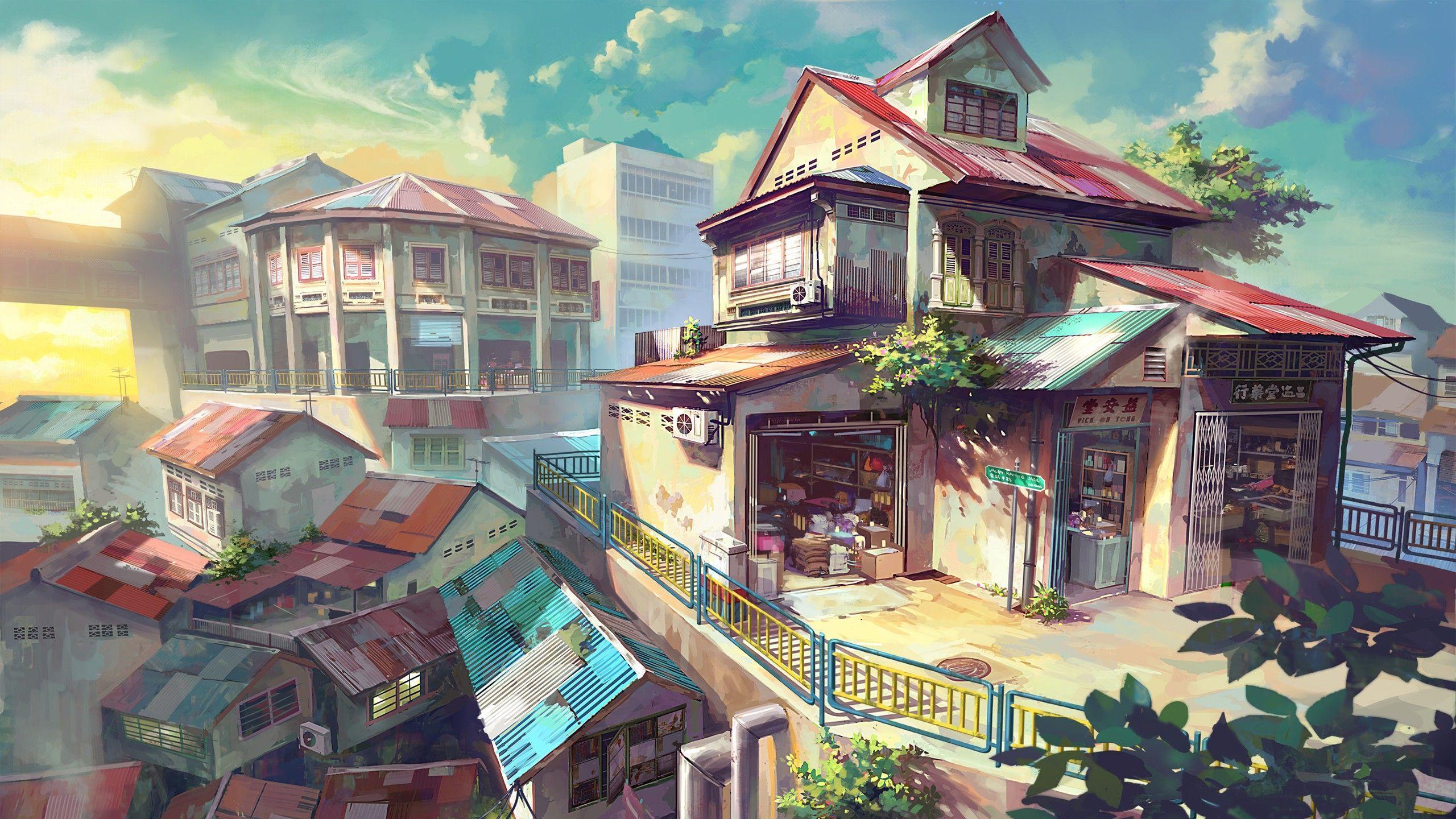 anime landscape wallpaper 4k