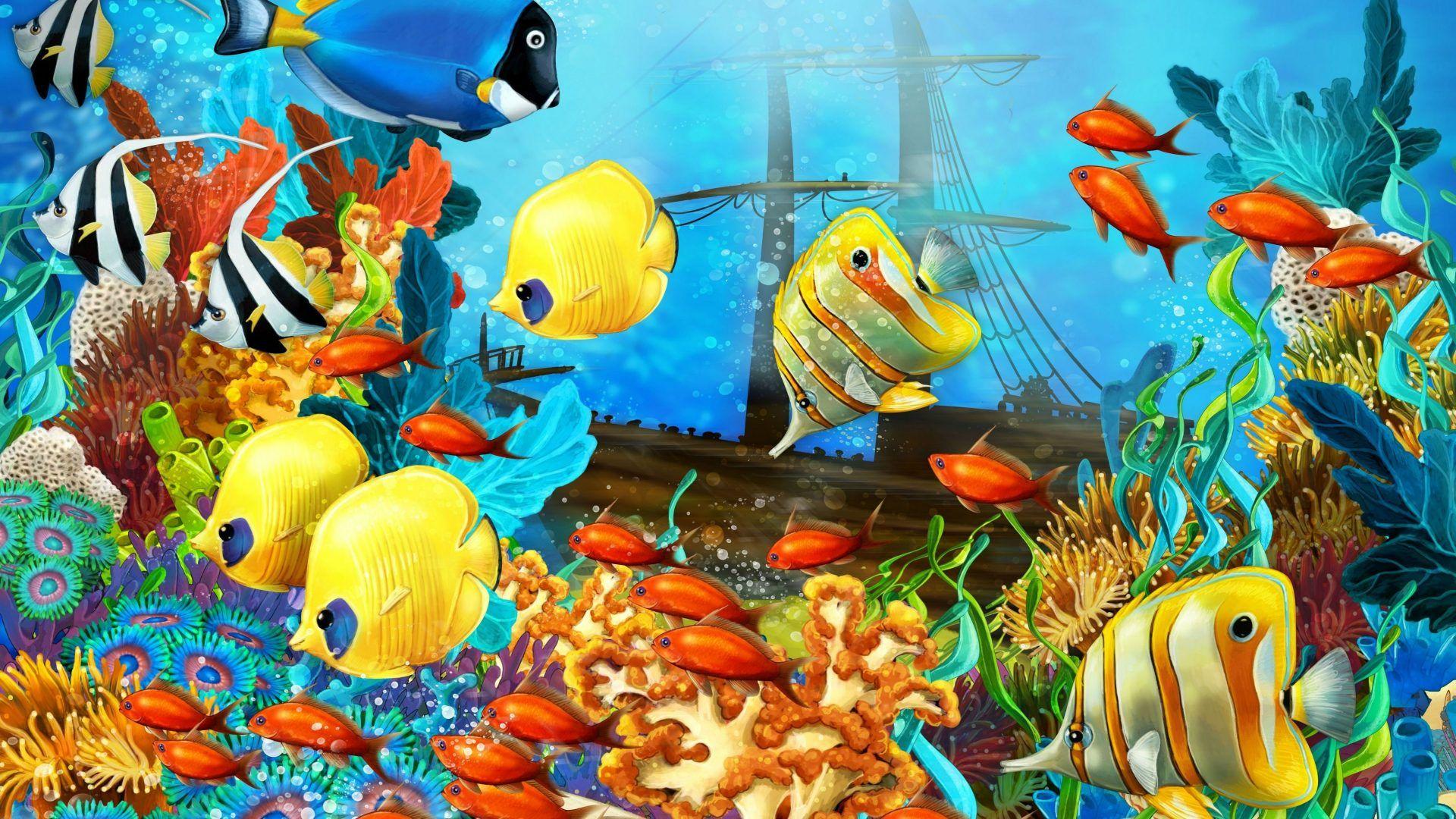 aquarium backgrounds printable