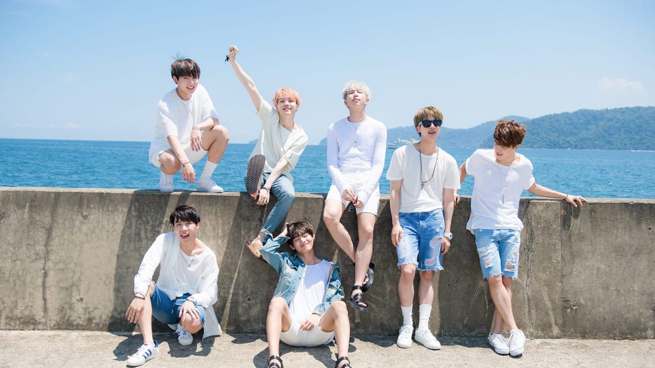 hd bts wallpaper, bts group photo 2017