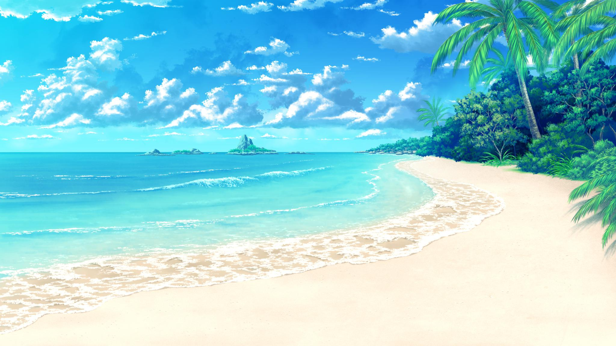 beach background for computer