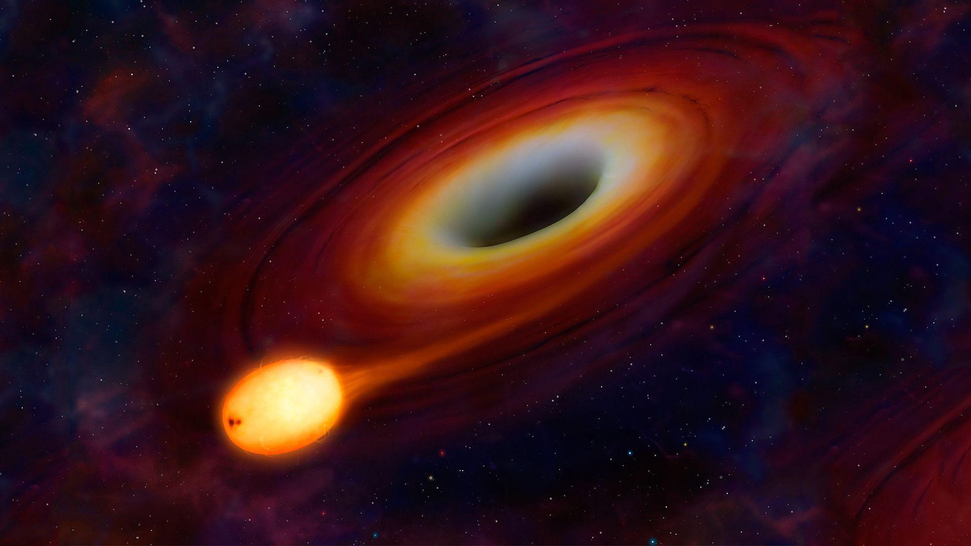 black hole screensaver