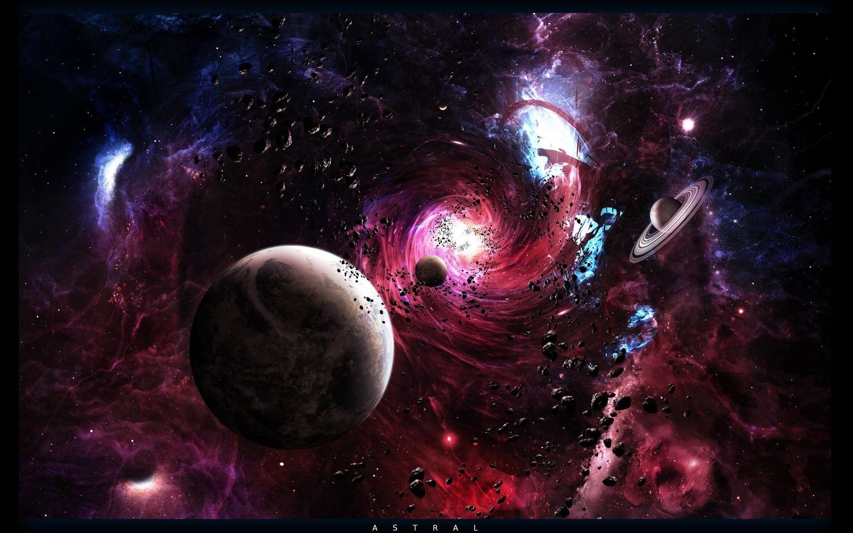 black hole desktop background