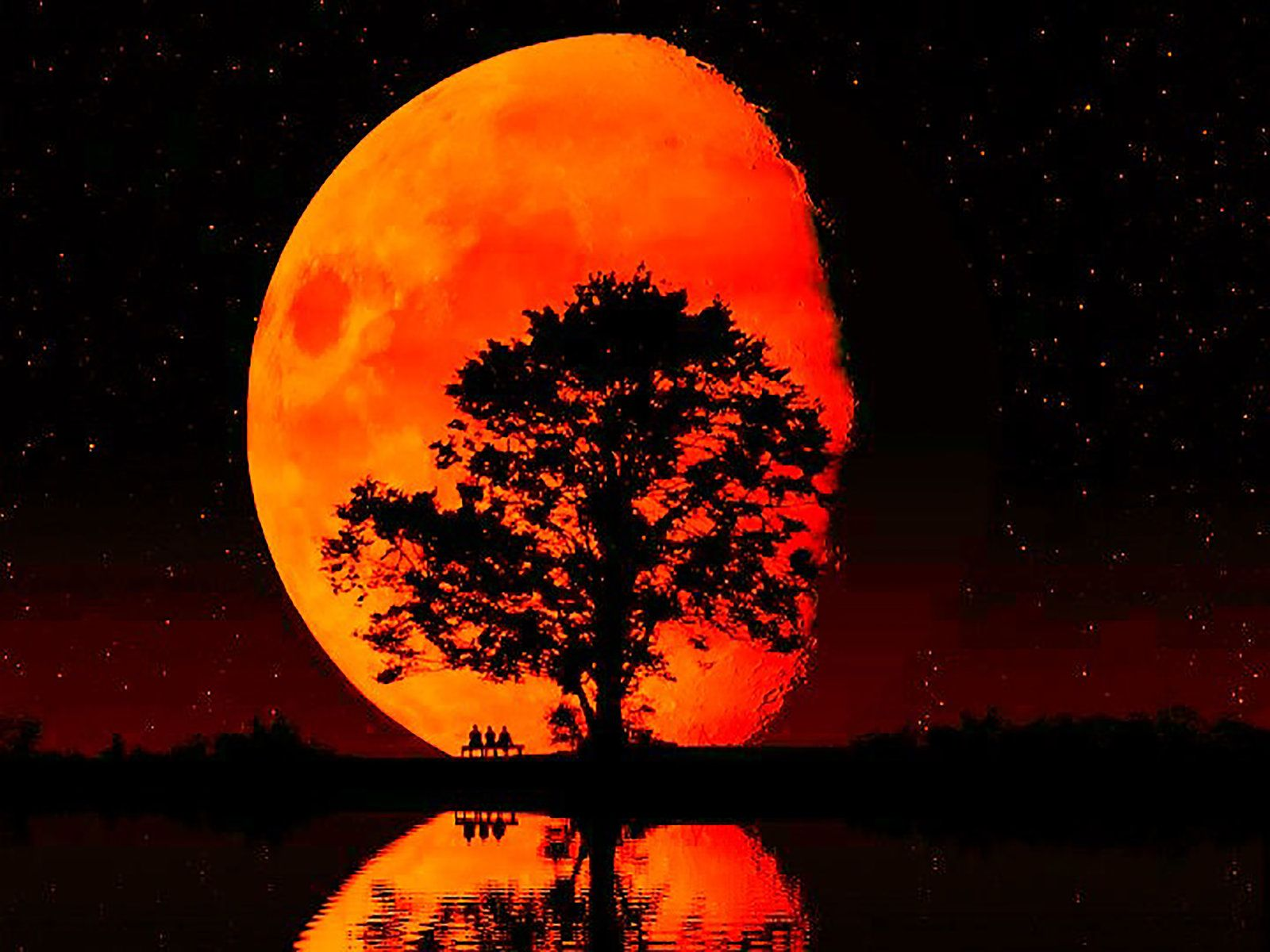red moon wallpapers, red moon backgrounds