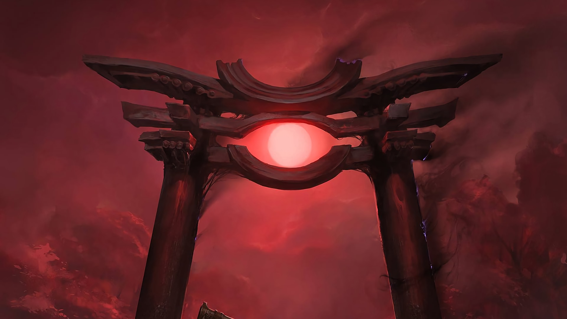 mtg blood moon, red moon backgrounds