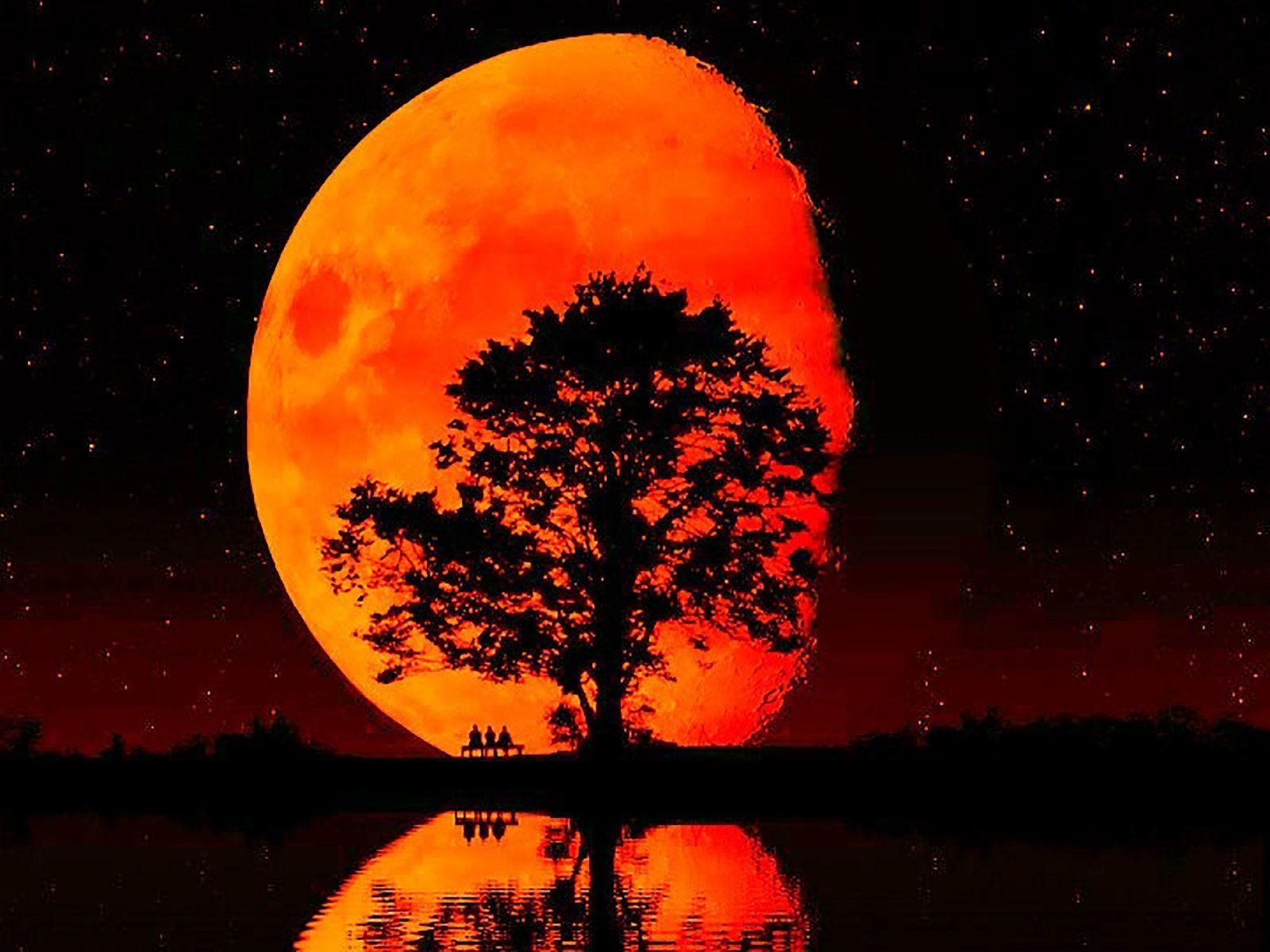 red moon backgrounds, dark moon wallpapers