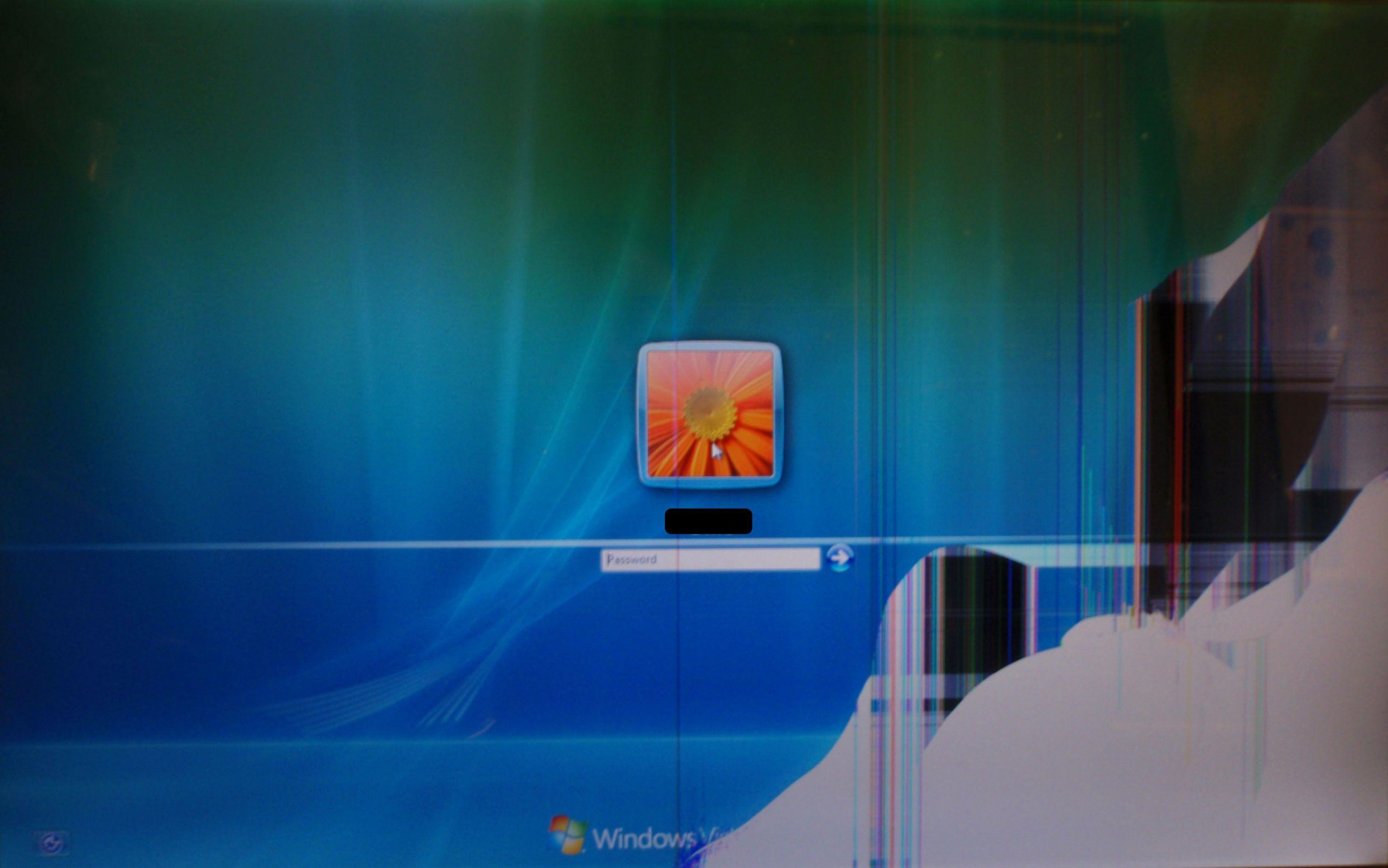 broken screen background