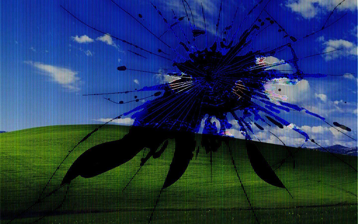 shattered screen background