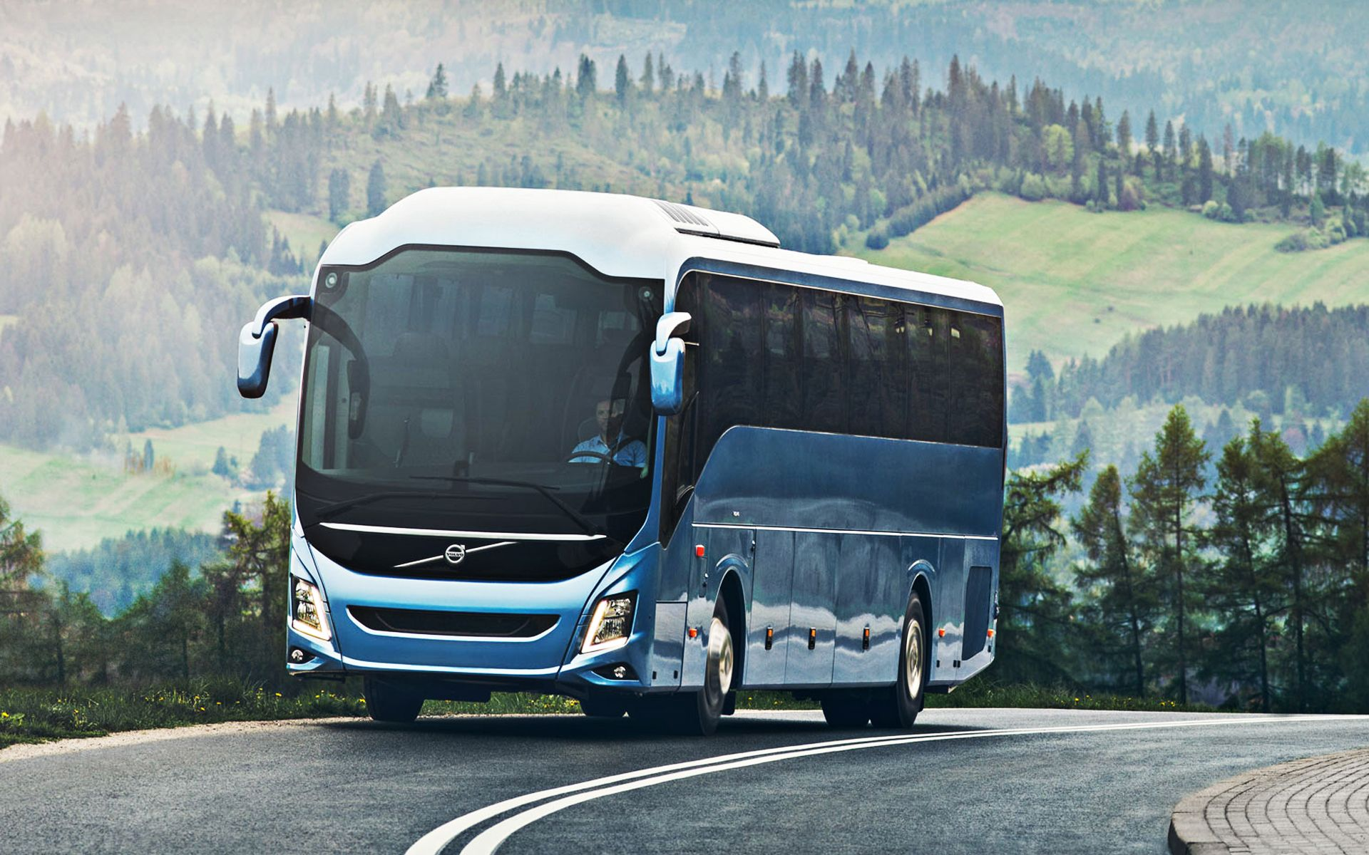 latest luxury volvo bus wallpaper