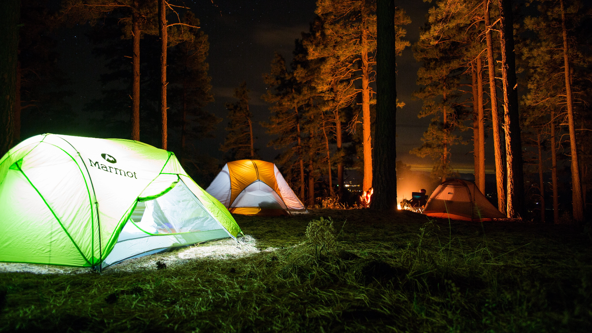 camping photography