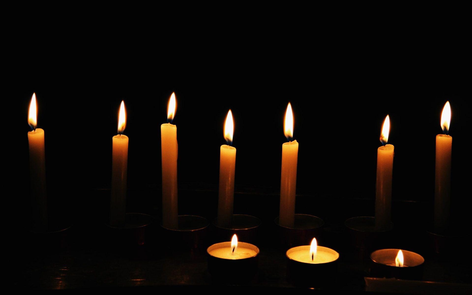 photos of candles burning
