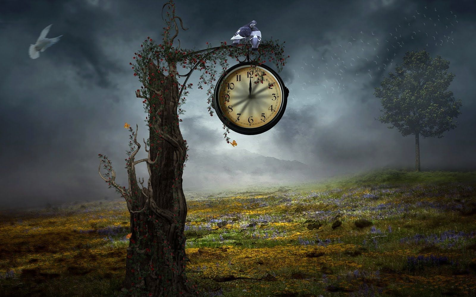wallpapers with clock