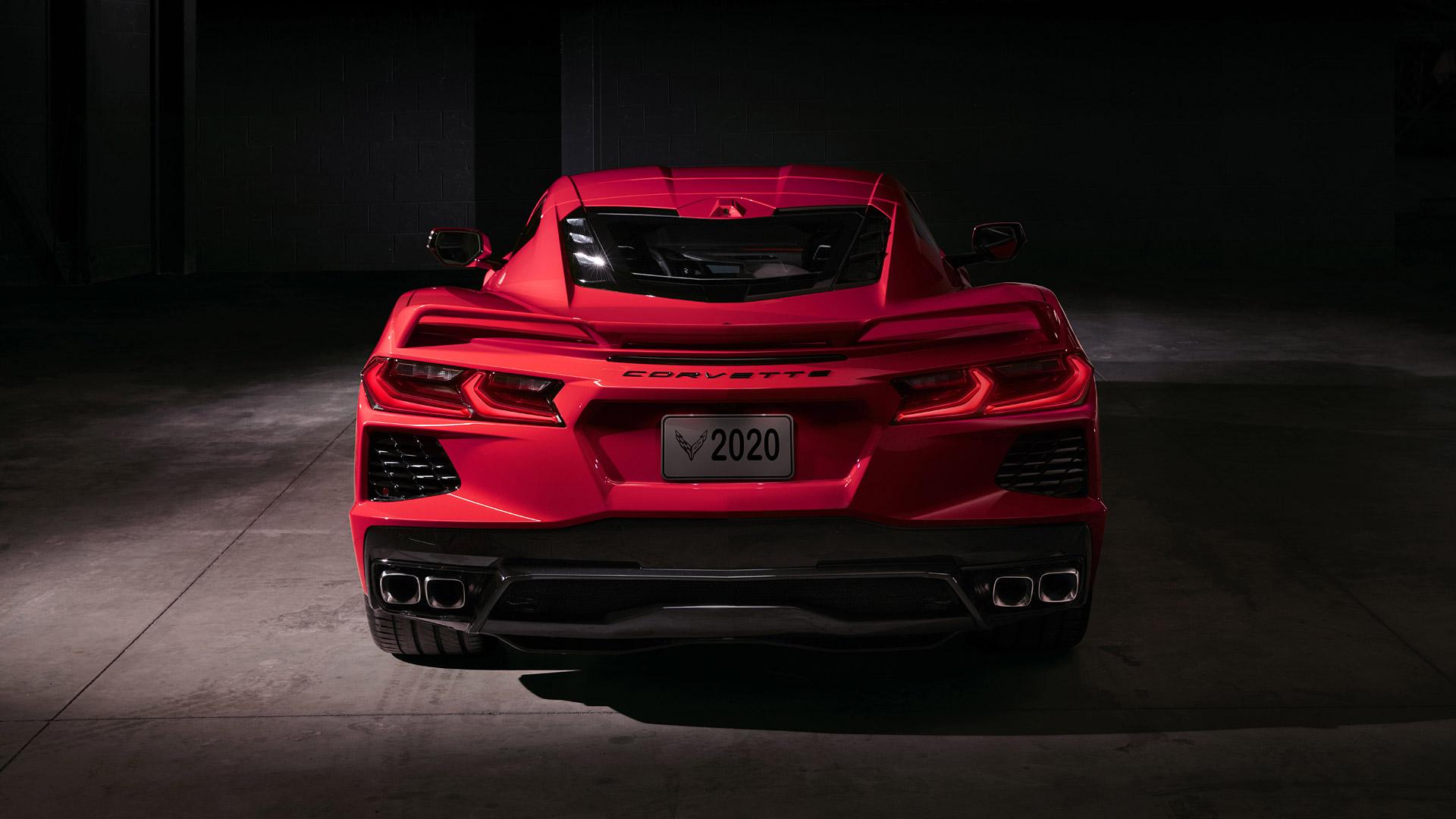 neon red corvette