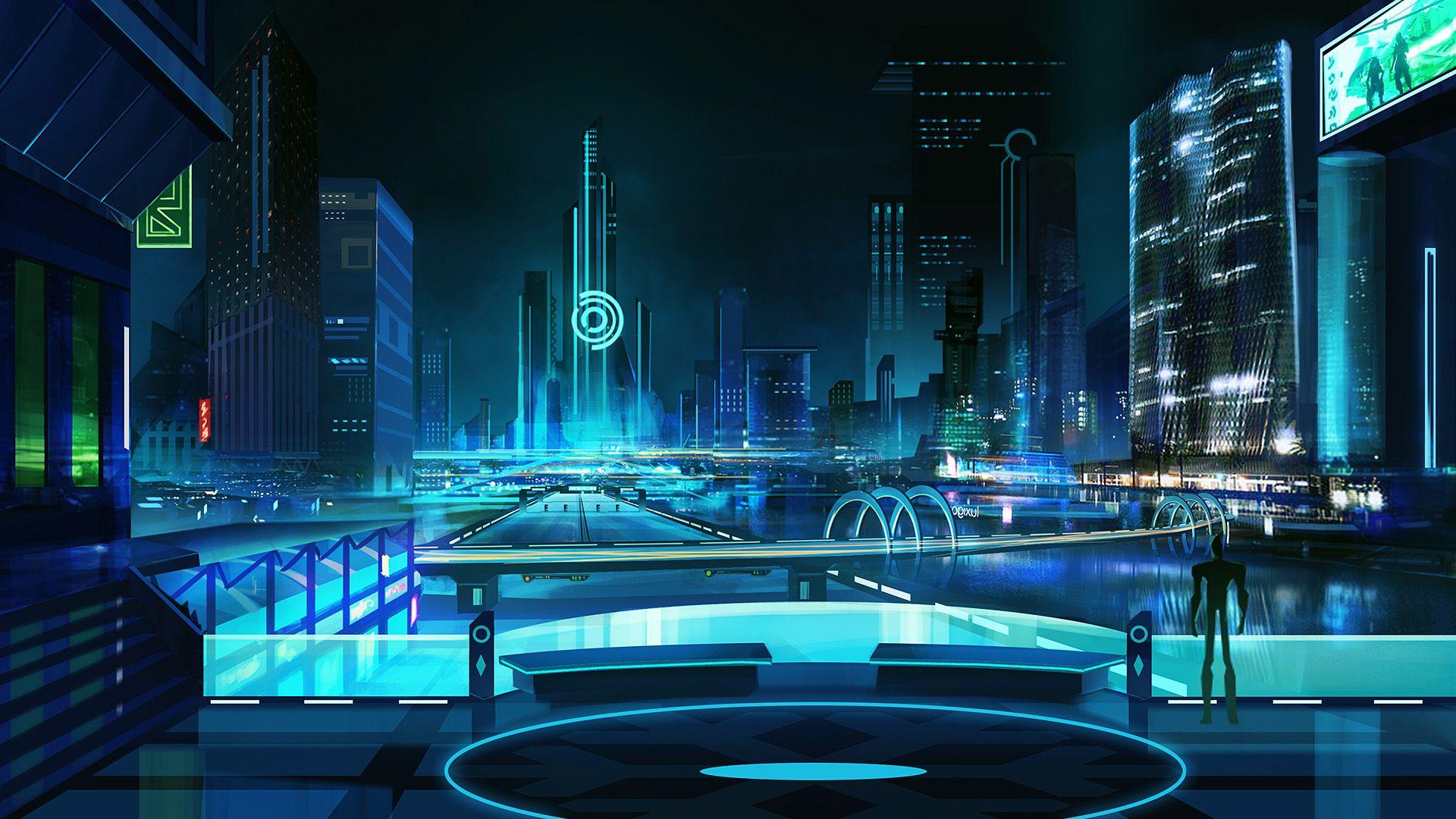 cyberpunk city wallpaper