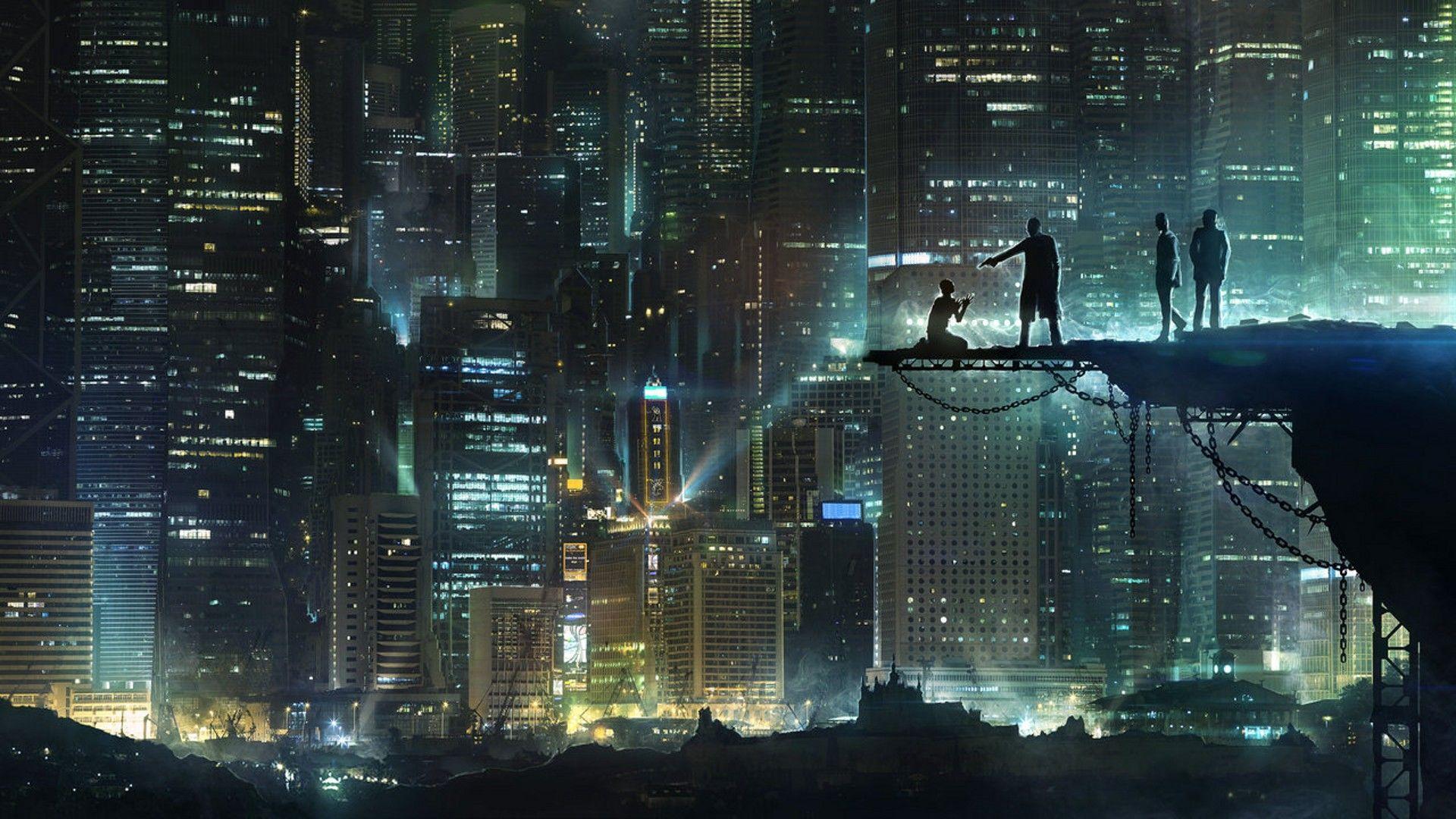 cyberpunk cityscape wallpaper