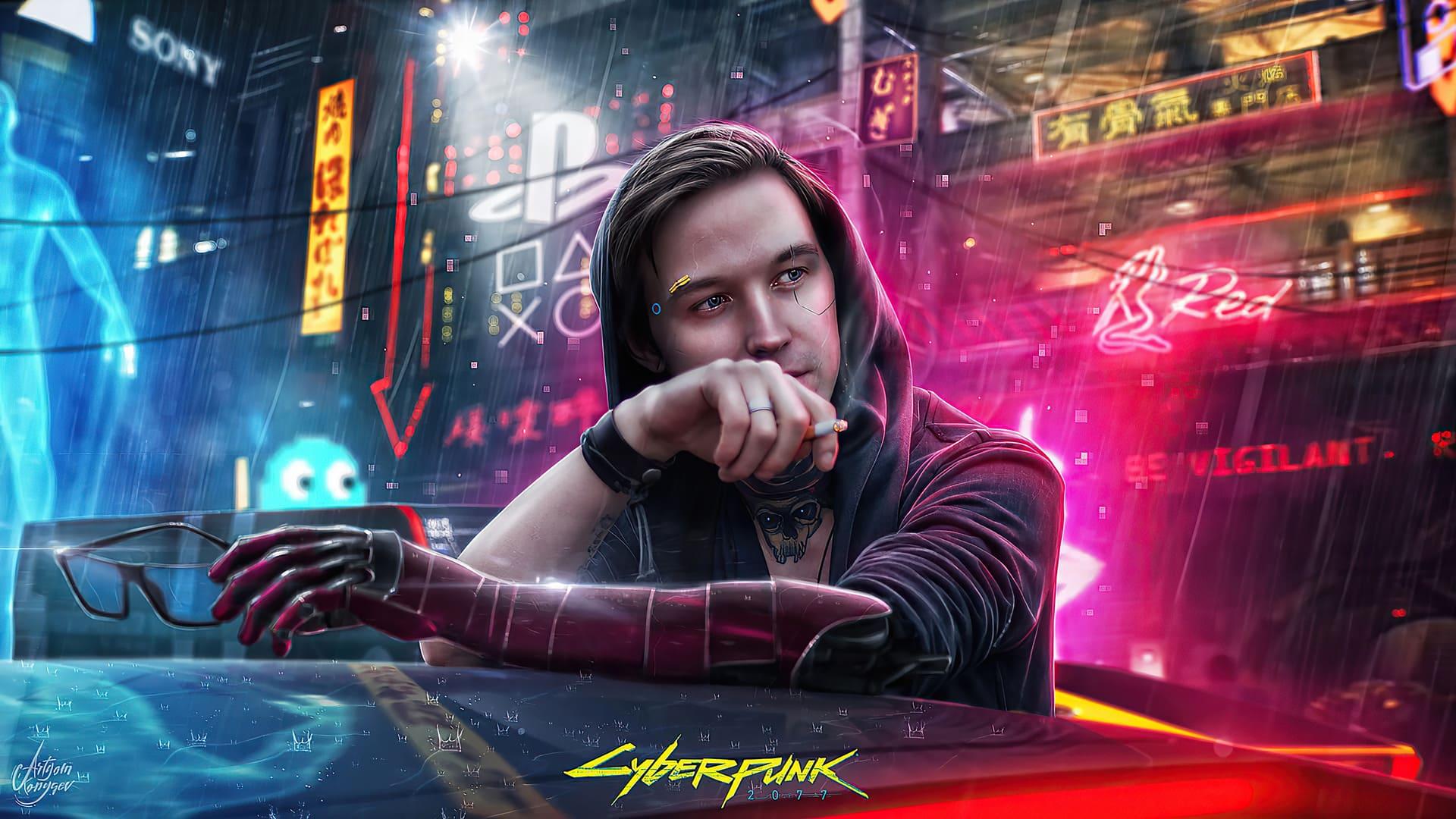 neon cyberpunk wallpaper