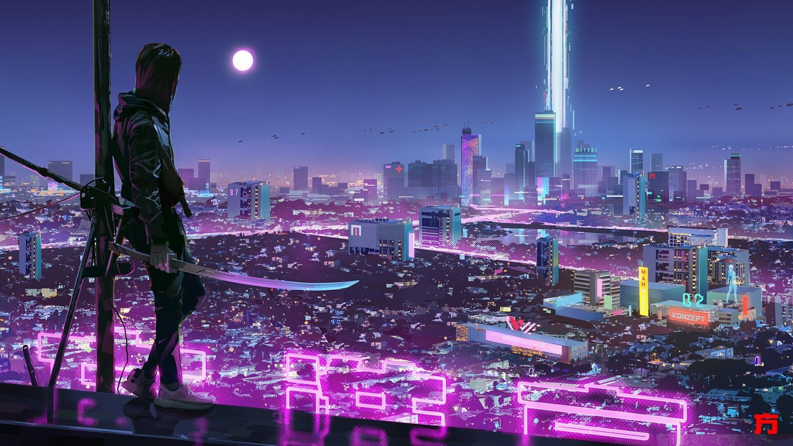 cyberpunk mobile wallpaper