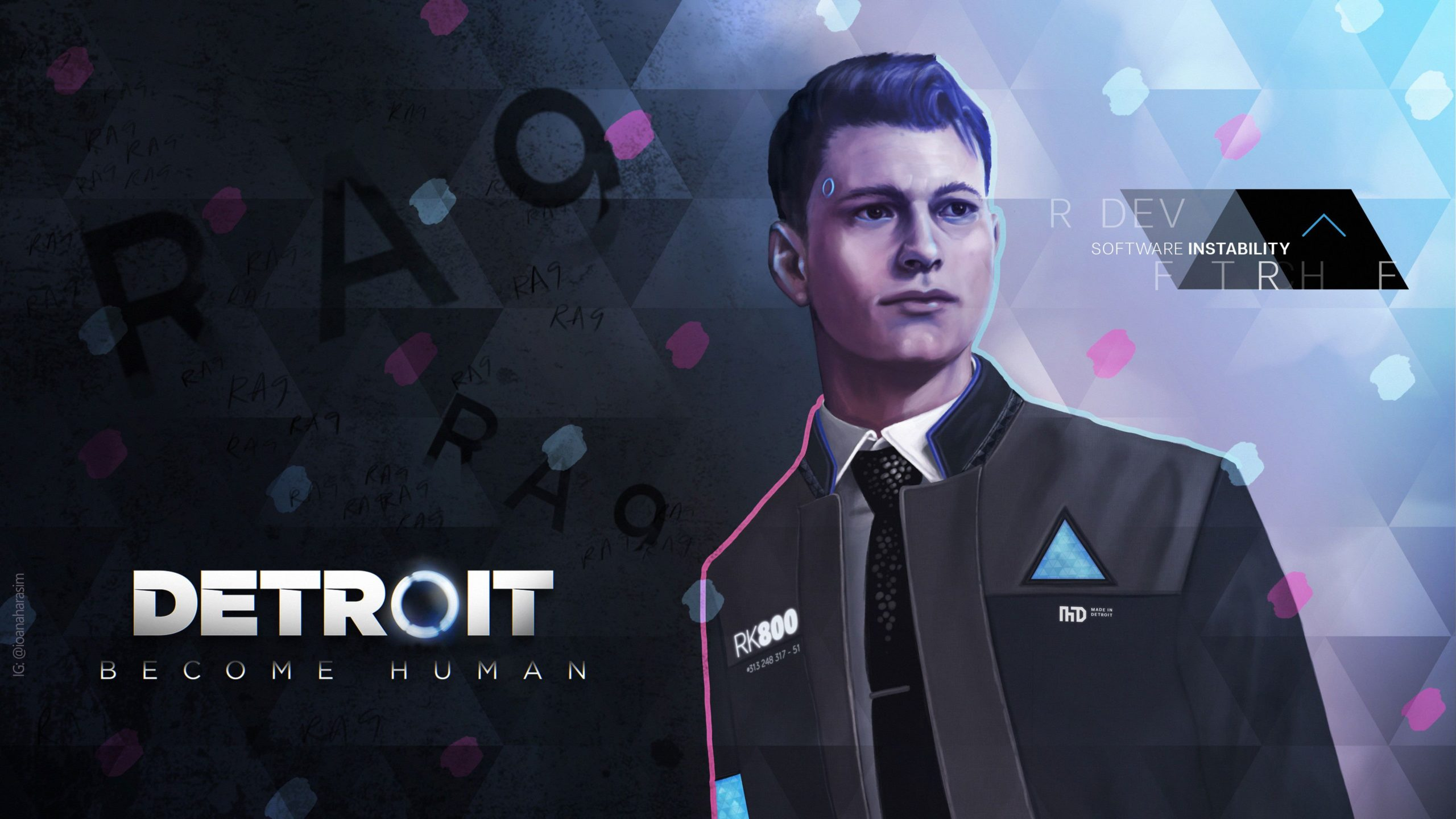 dbh connor wallpaper