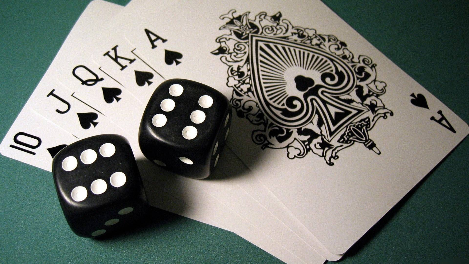 wallpaper with dice