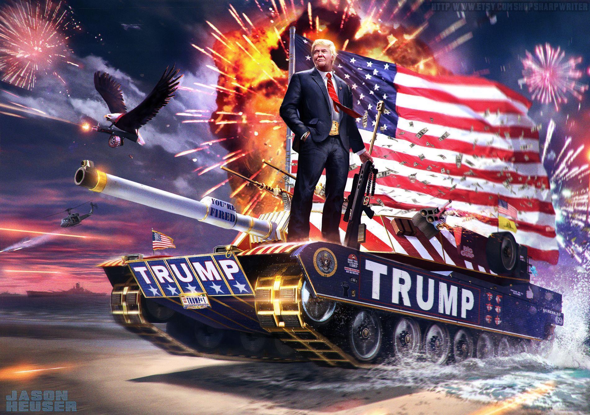 badass trump wallpaper