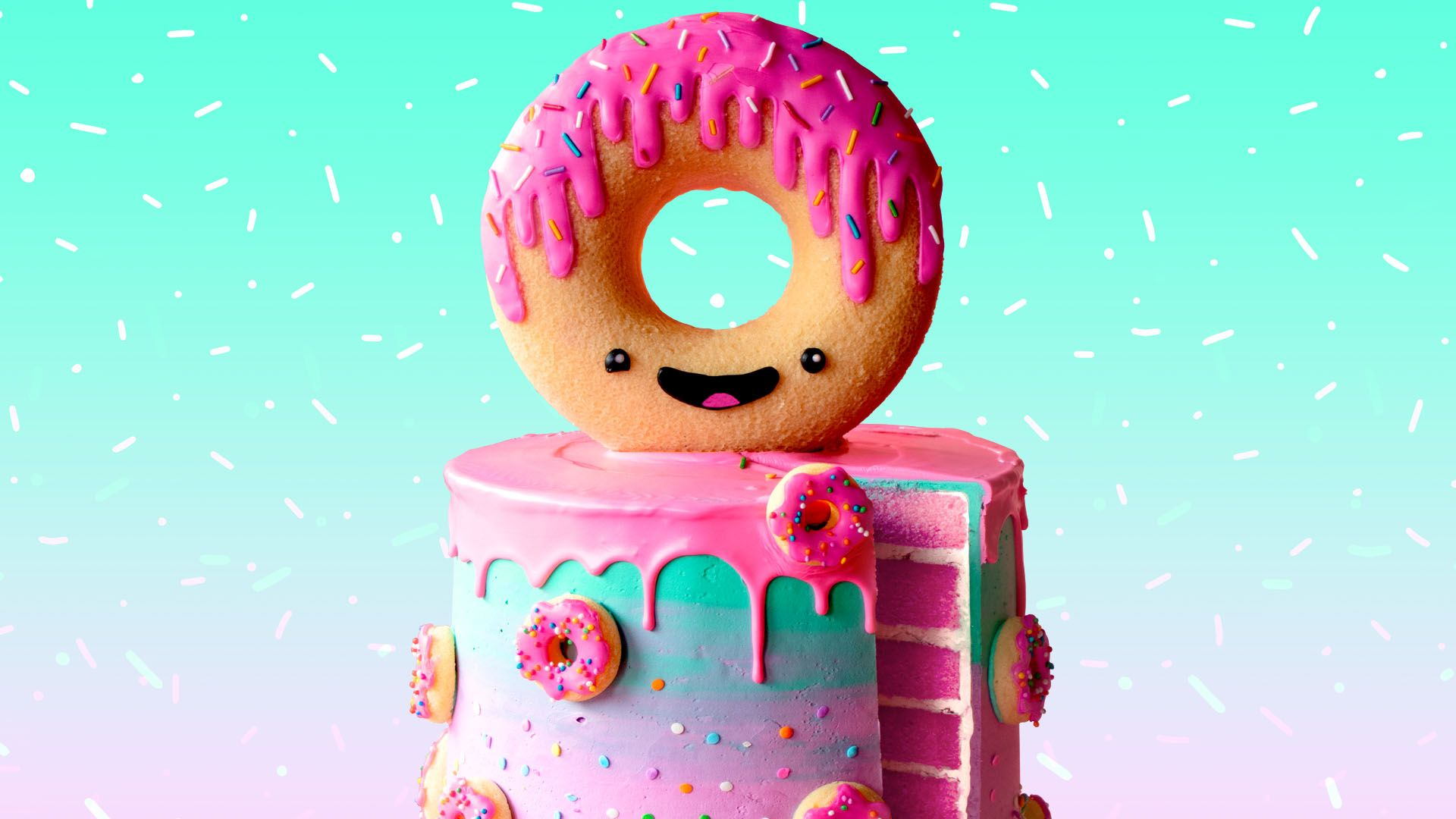 pictures of donut cakes