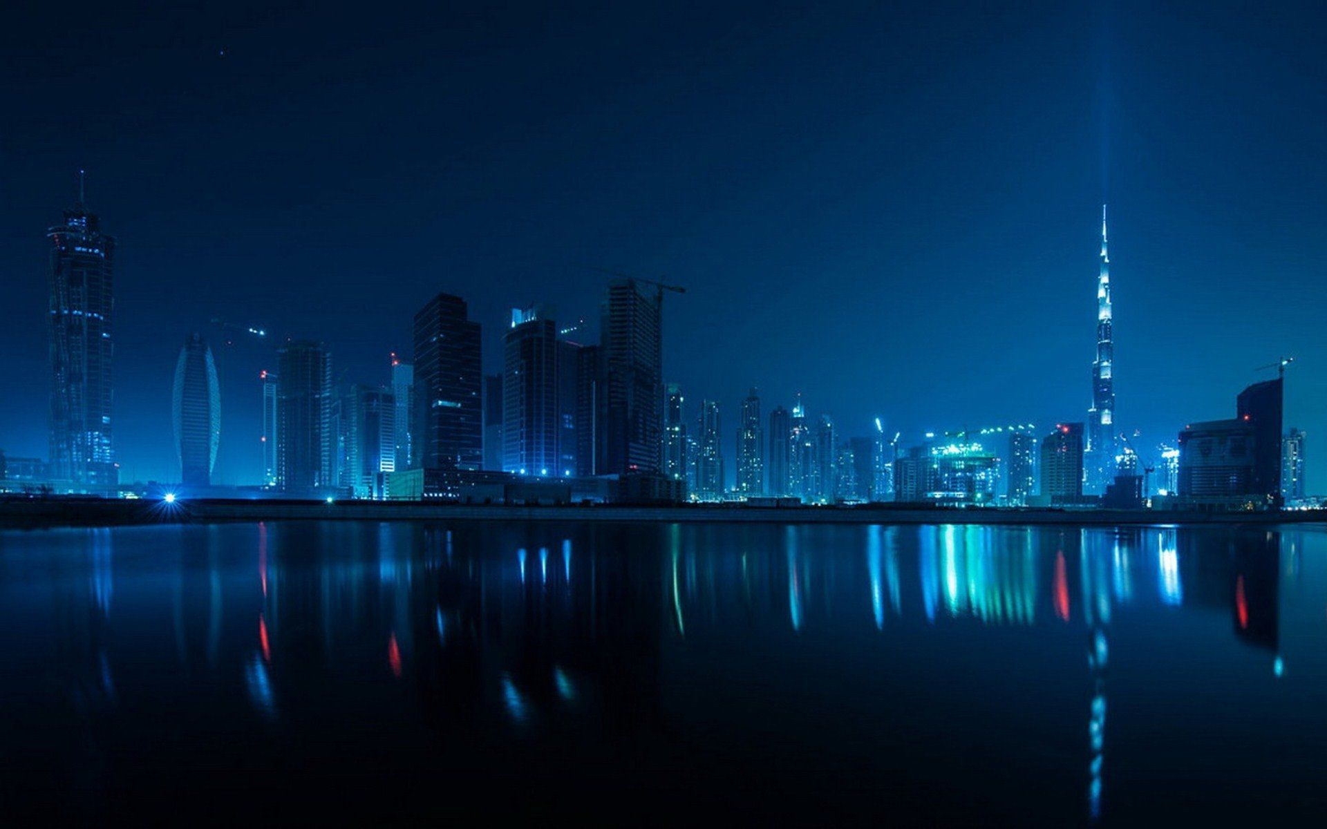 dubai night wallpaper