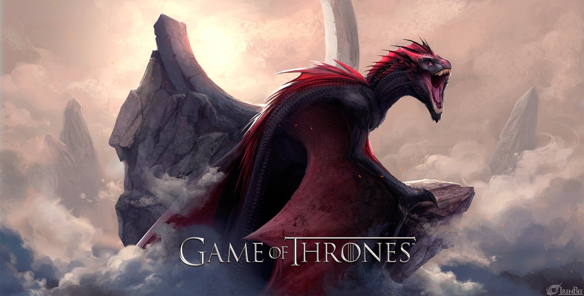 game of thrones background, drogon pics