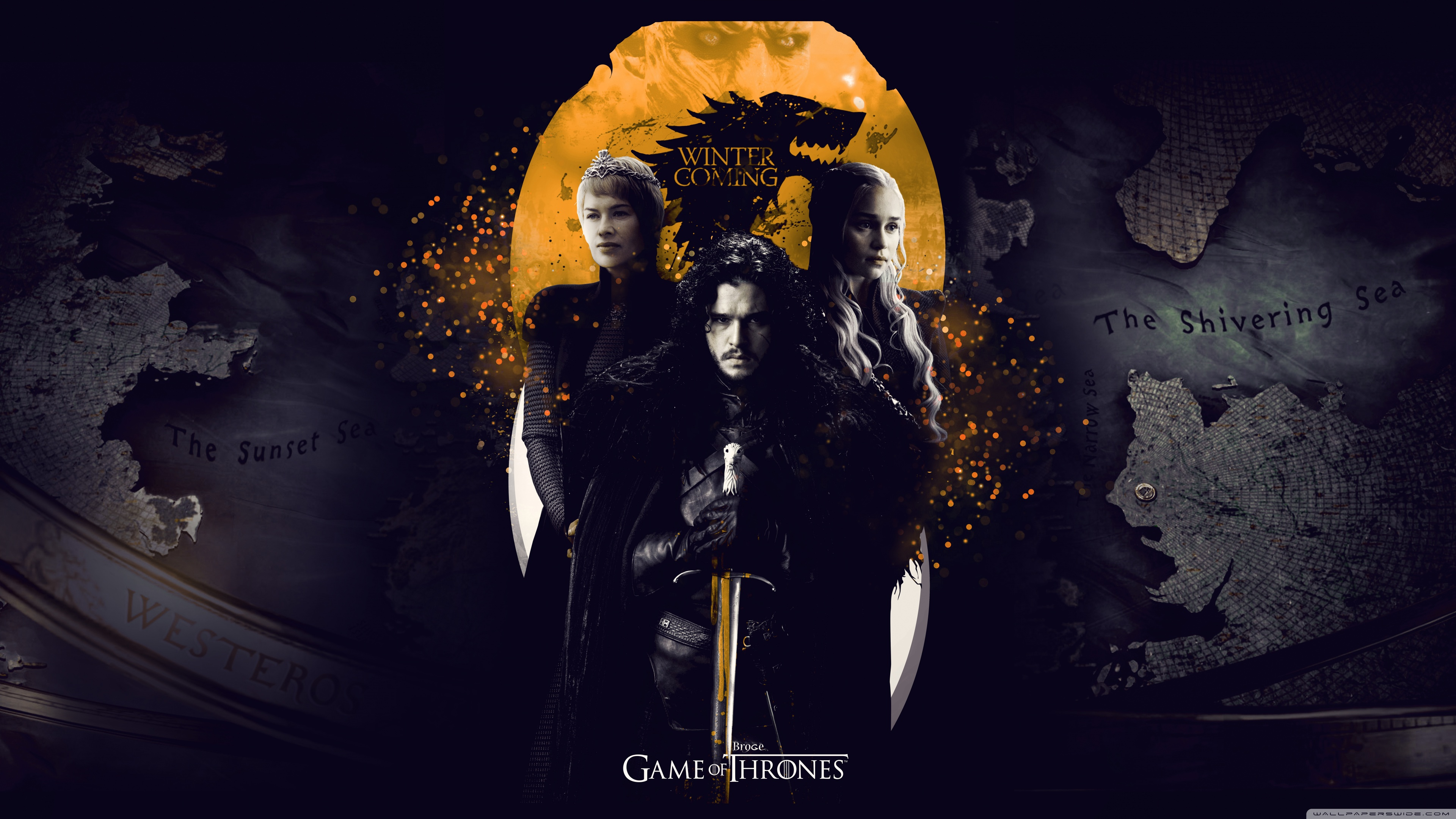 hd game of thrones, game of thrones season 7 wallpaper