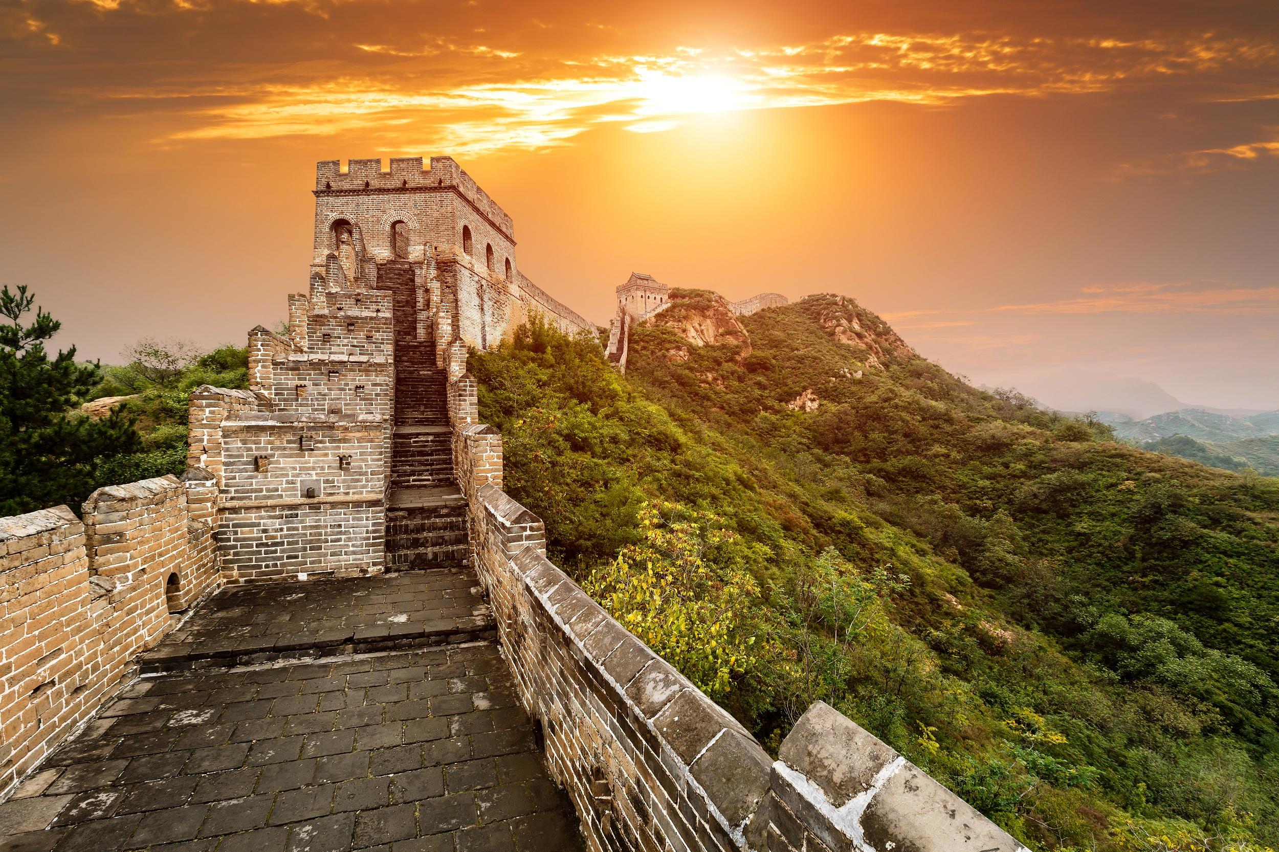 great wall of china hd wallpaper