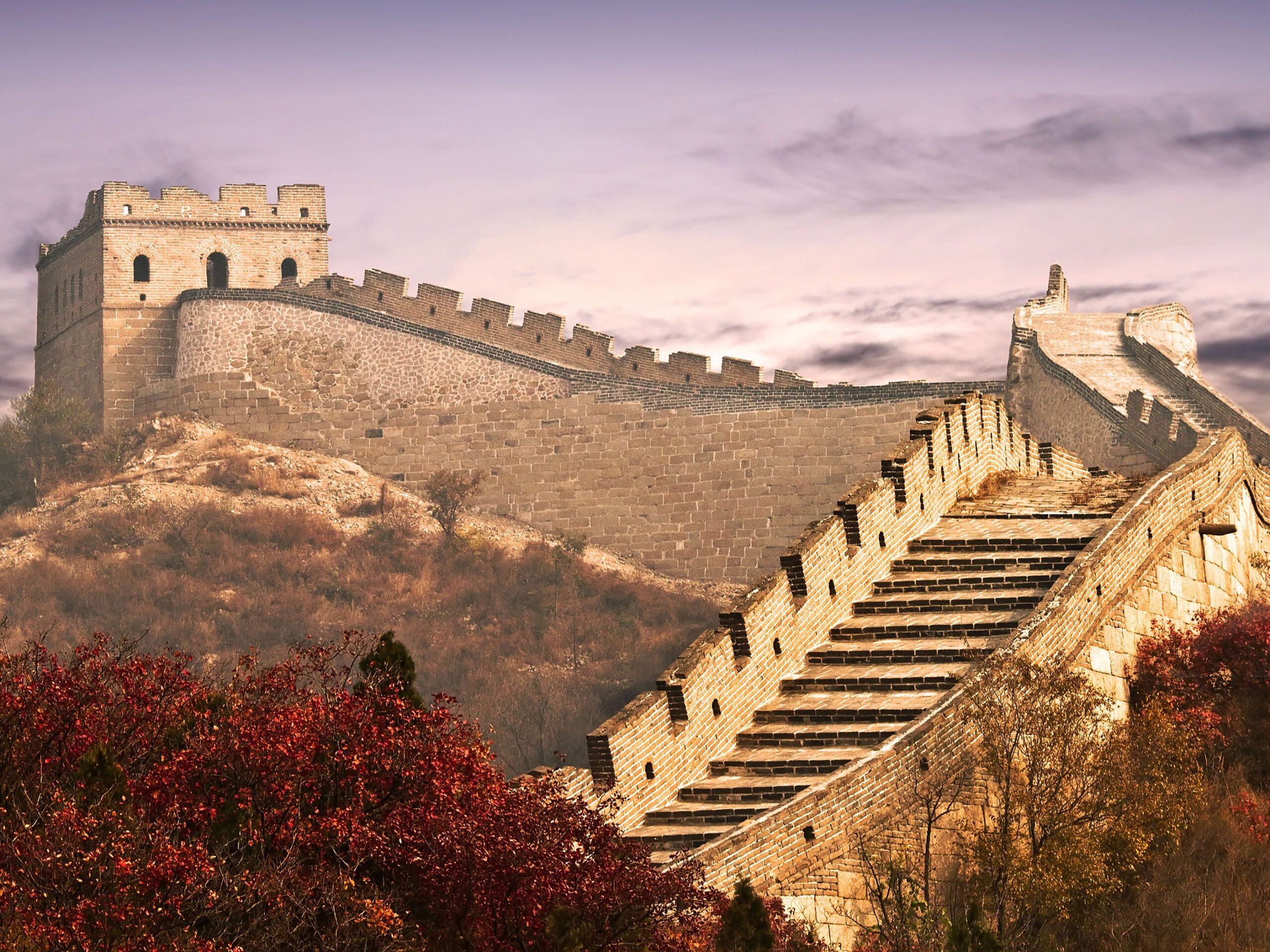 images of great wall of china from space
