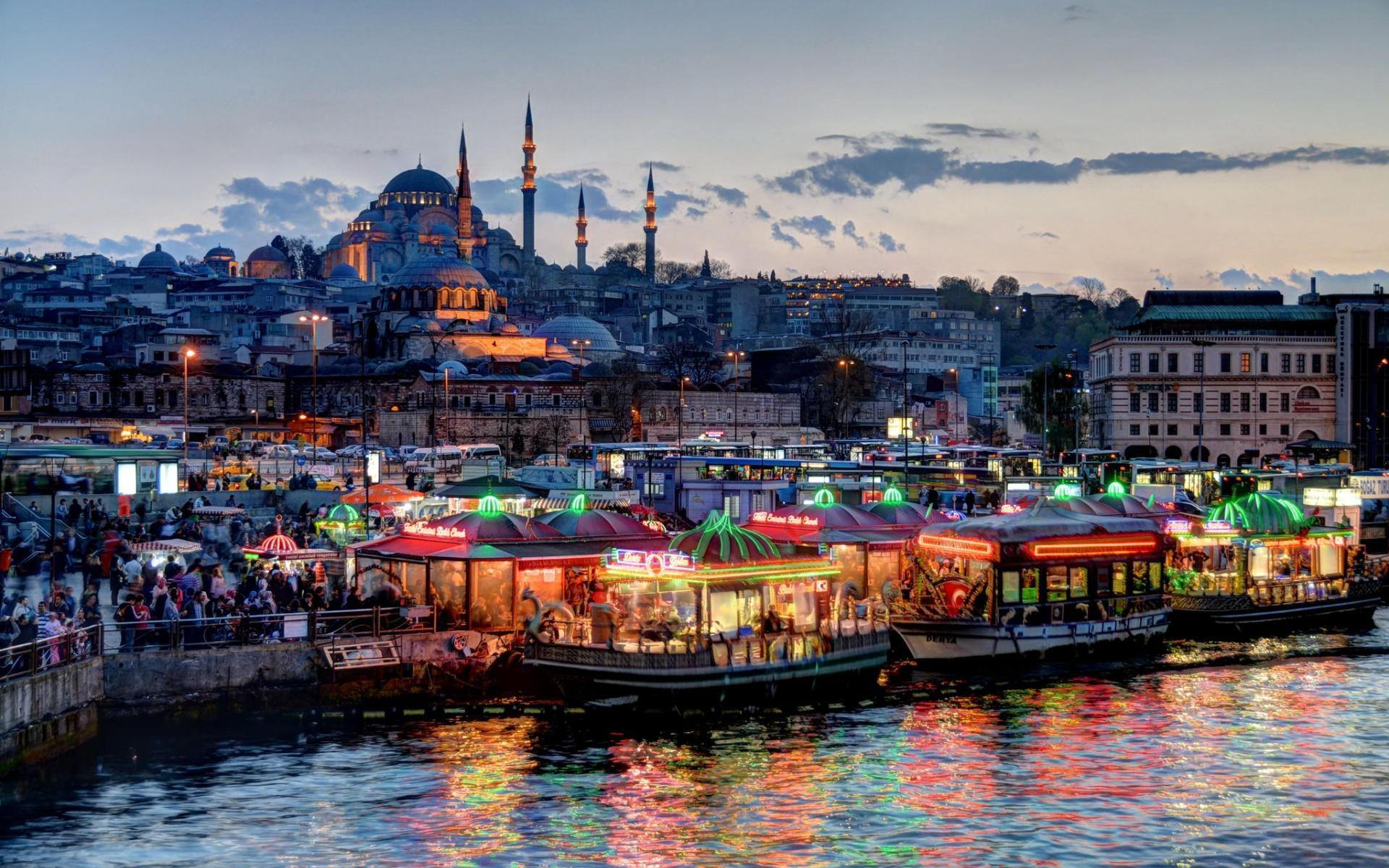 istanbul night wallpaper