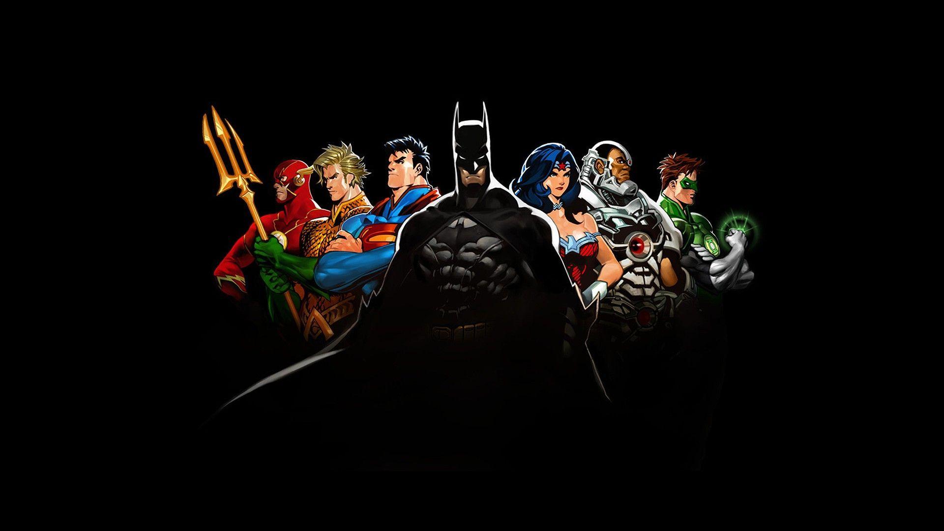 dc justice league wallpaper