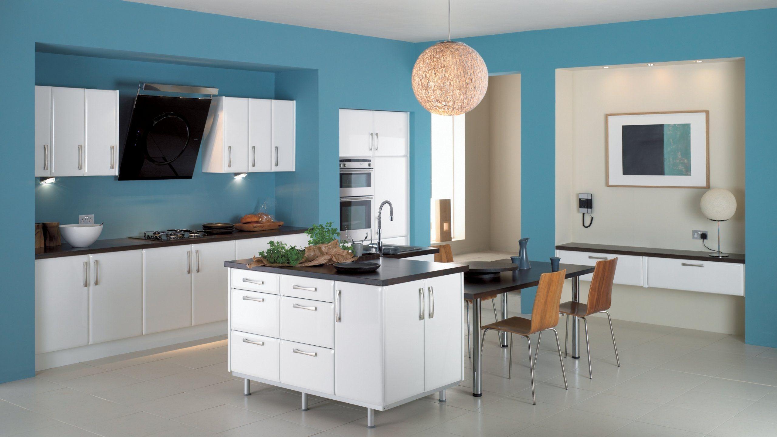 wallpapered kitchen hd