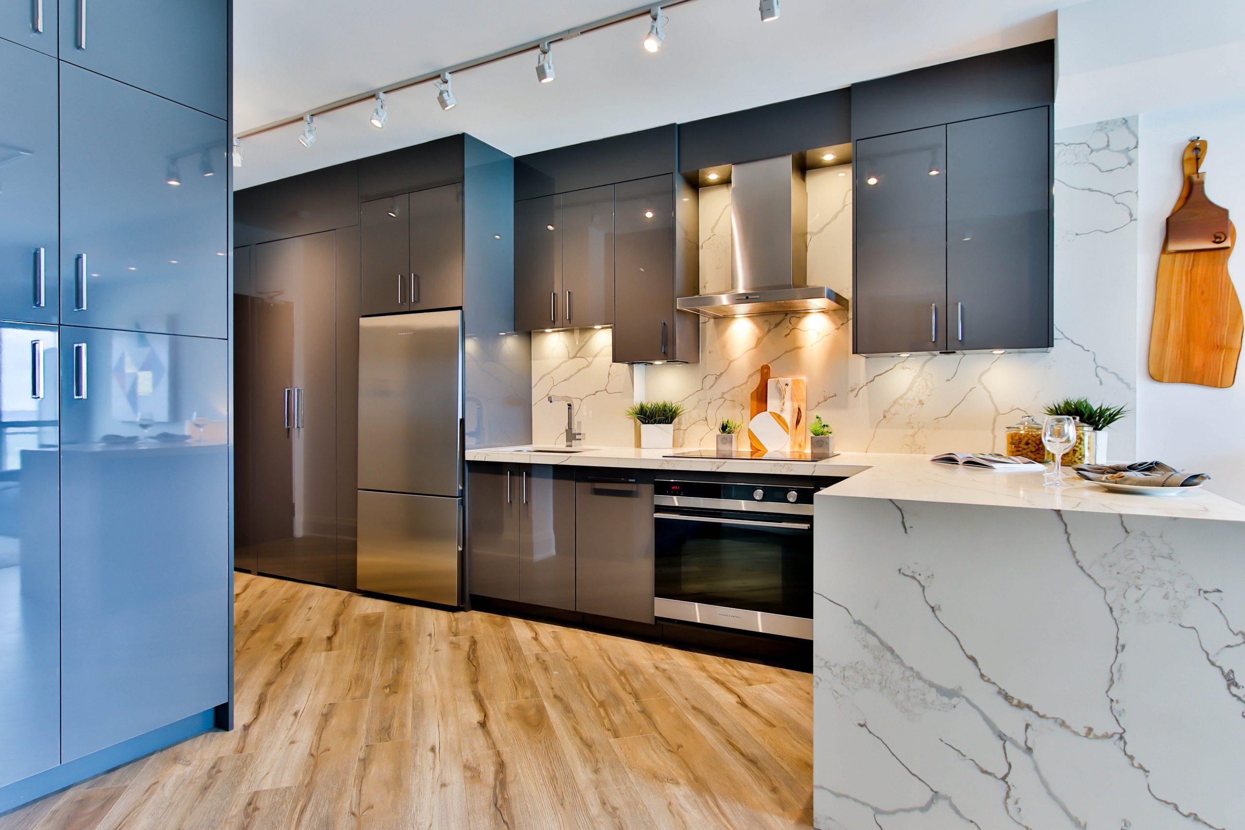contemporary kitchen wallpaper