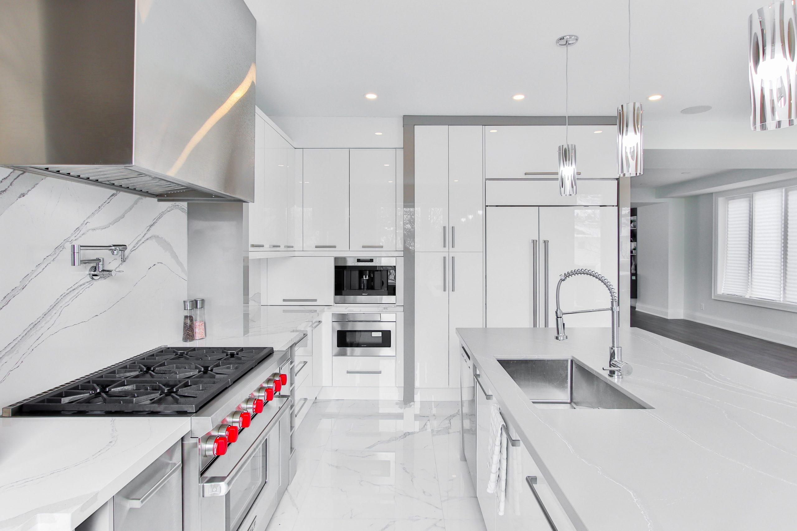 wallpaper accent wall kitchen