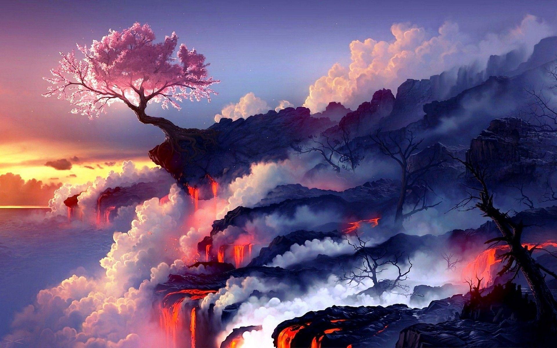 volcanic wallpapers