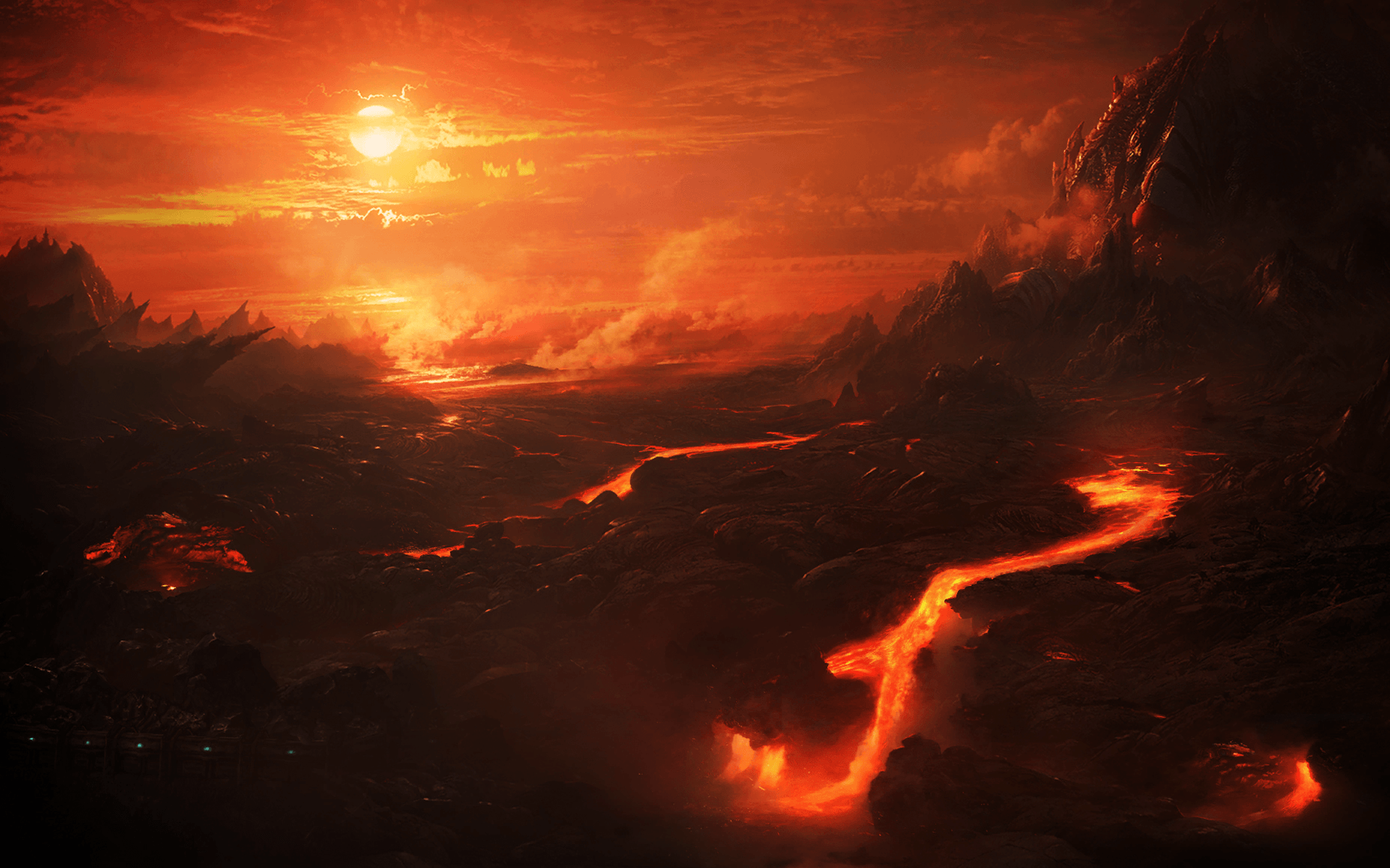 red lava wallpapers