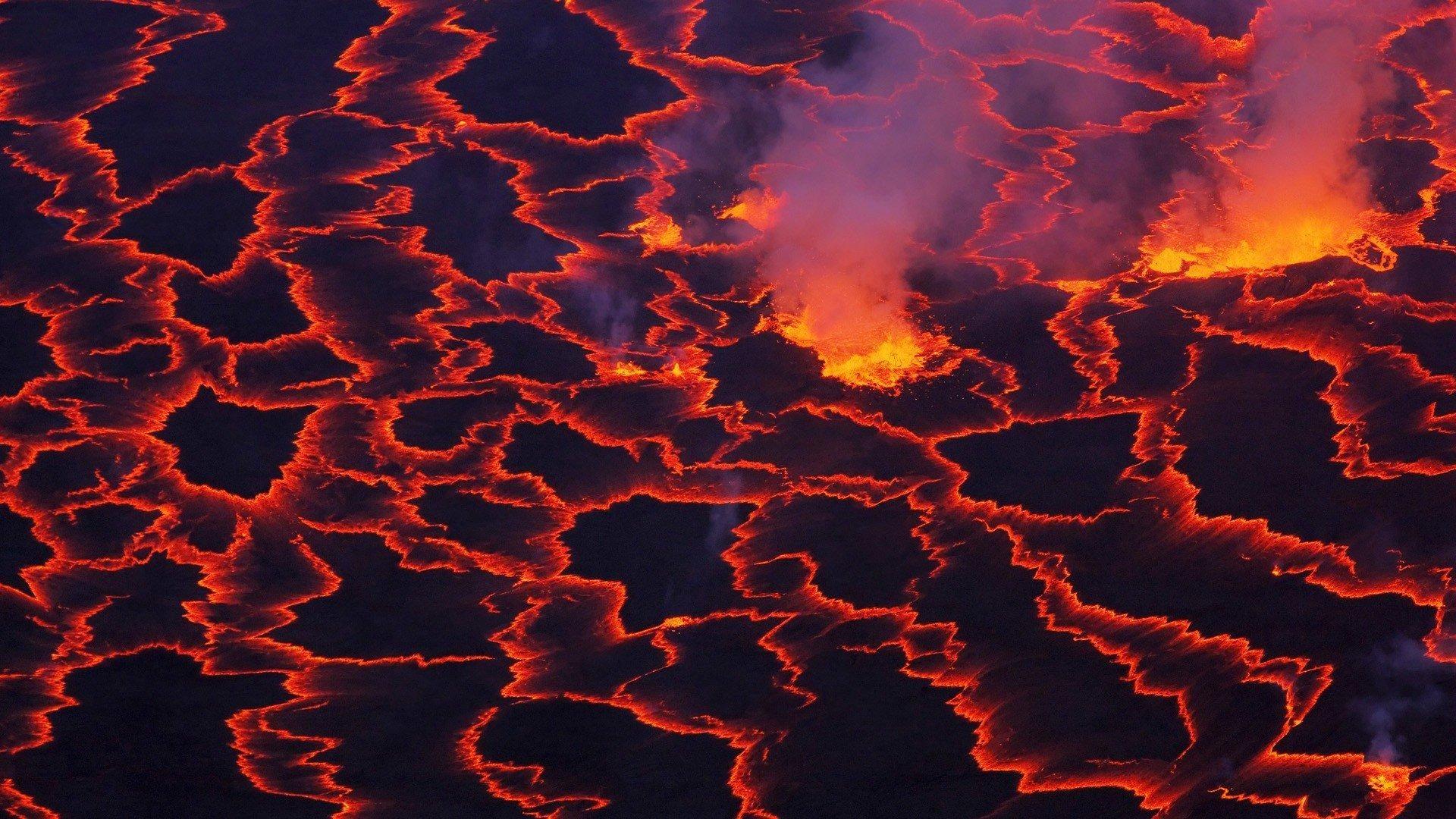 orange lava wallpapers