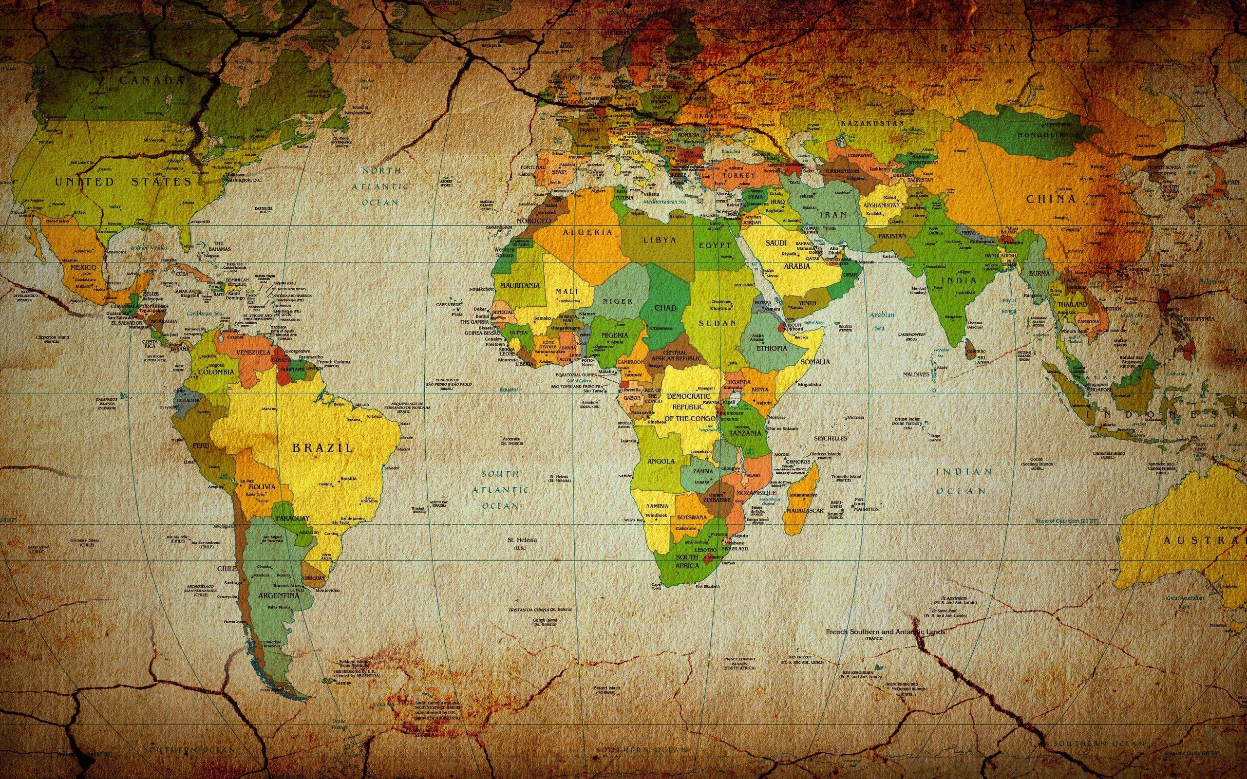 world map wall paper