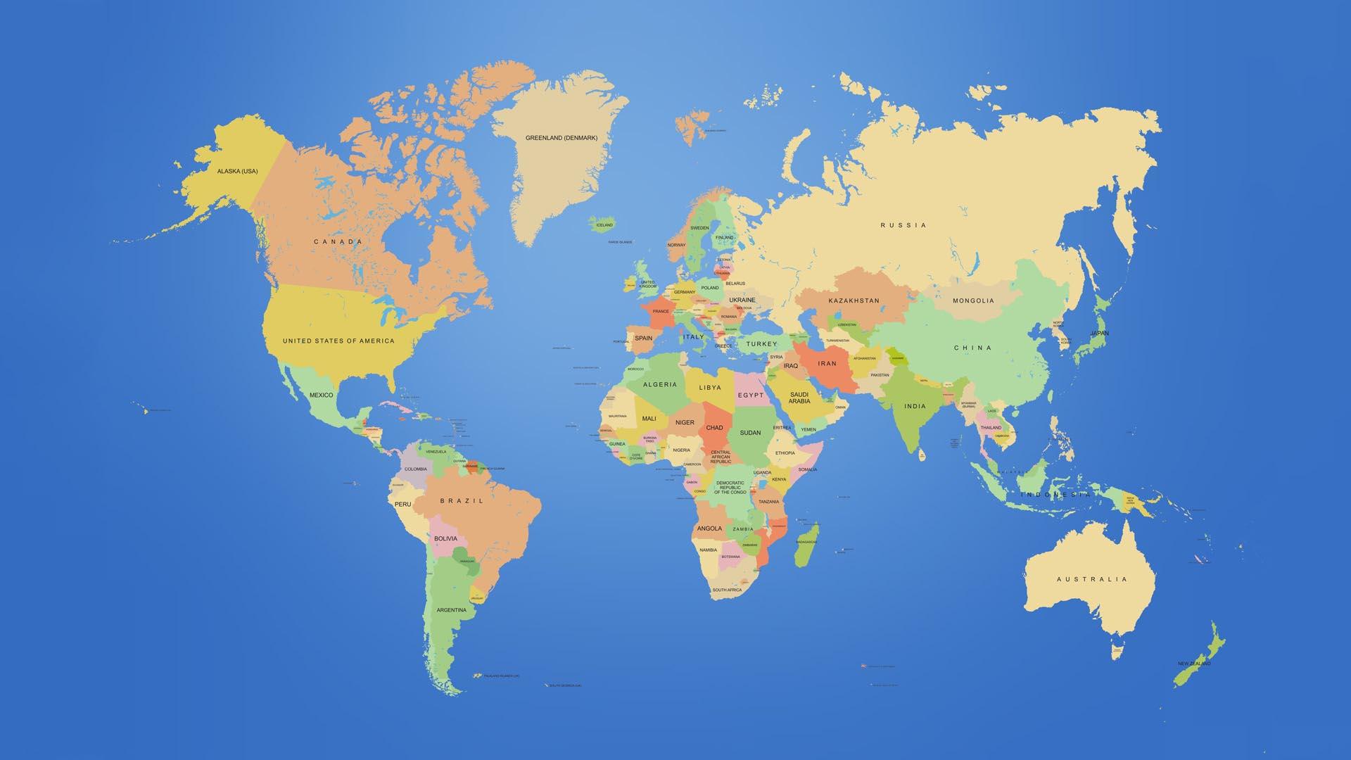 world map desktop wall paper