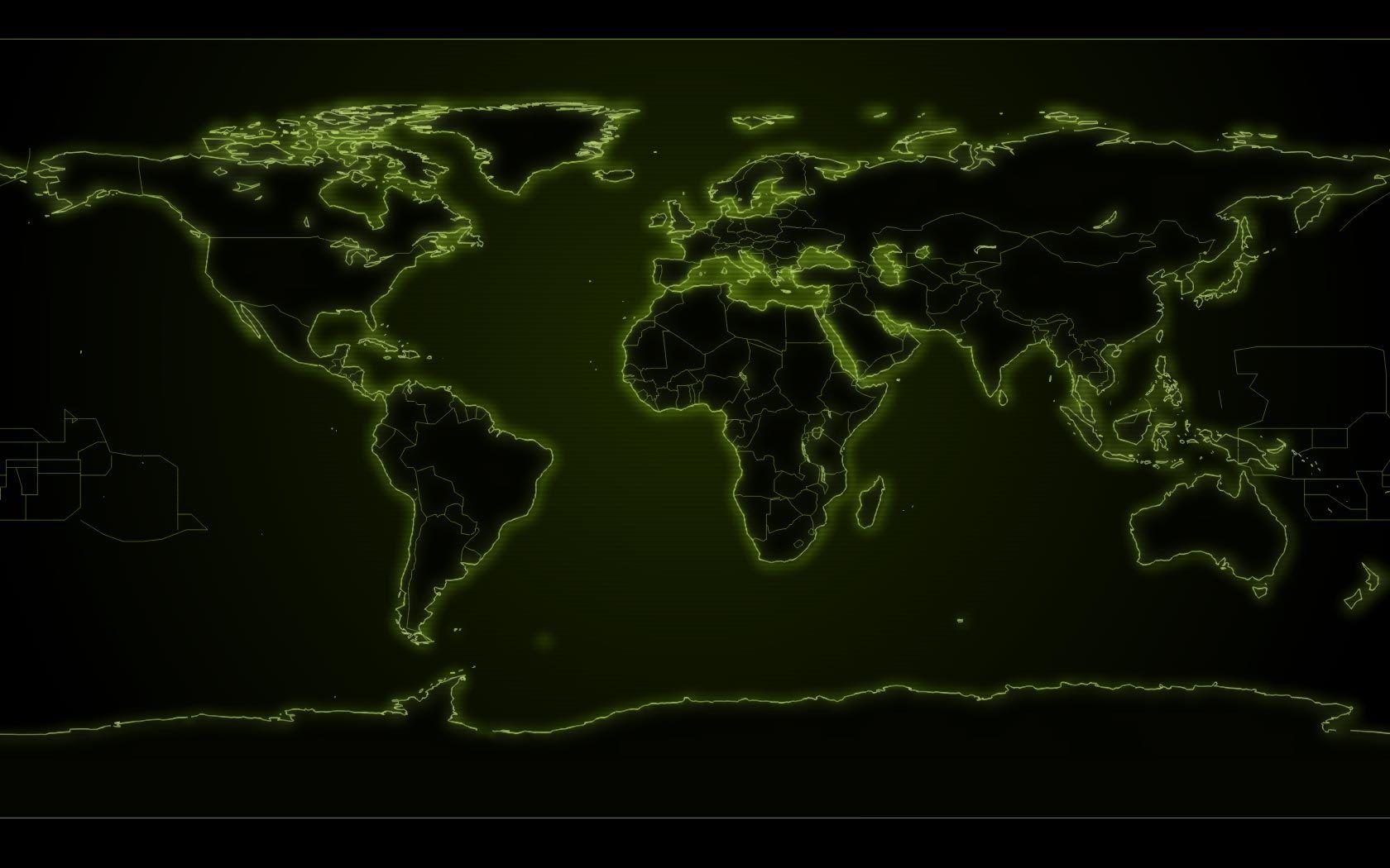 world map murals