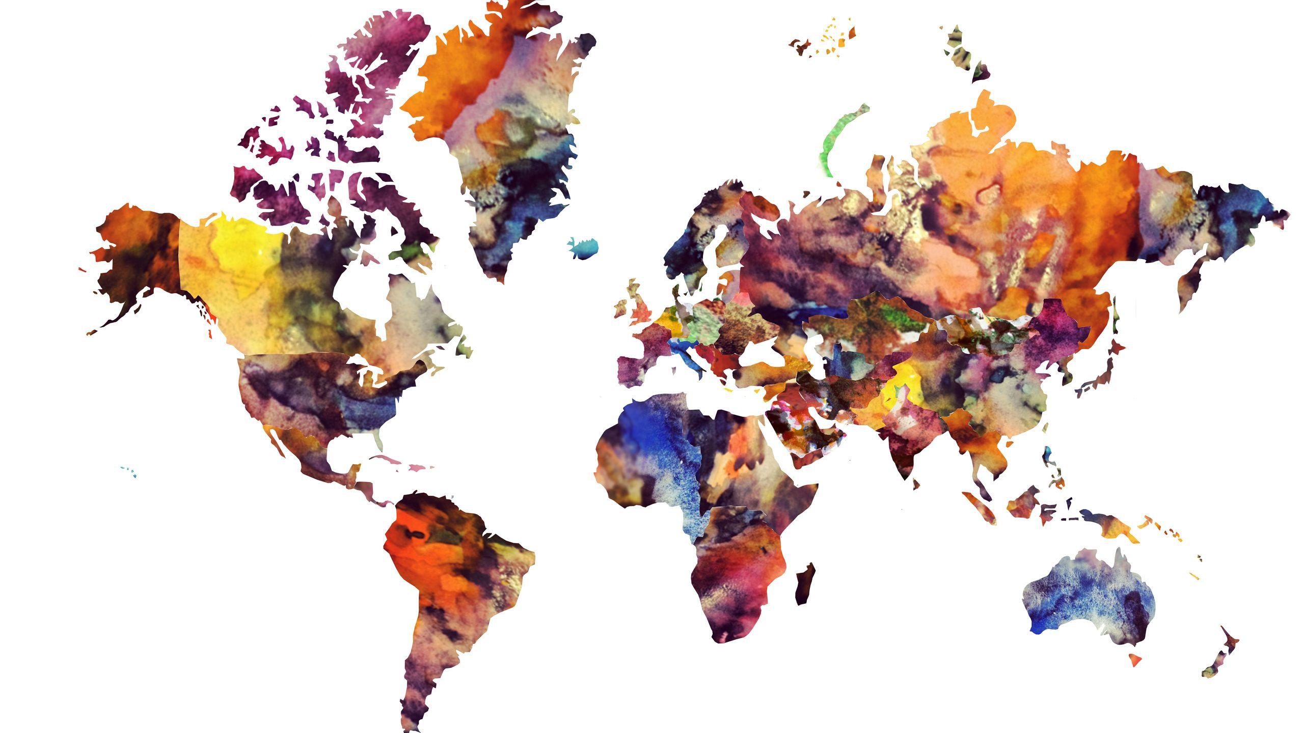 kids world map wall